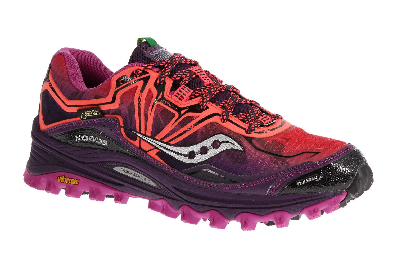 saucony shoes xodus 6 0 gtx purple women. Black Bedroom Furniture Sets. Home Design Ideas