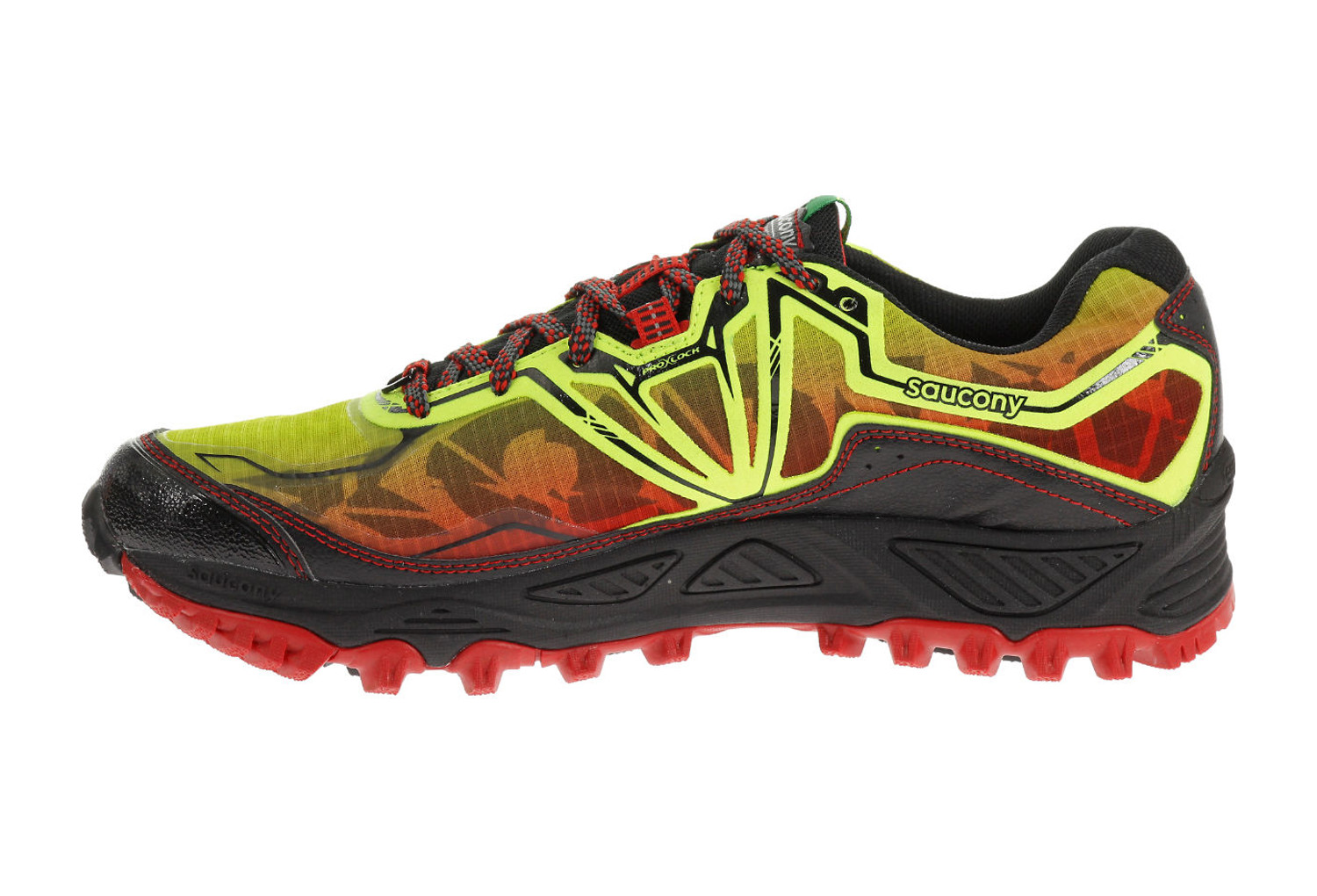 saucony shoes xodus 6 0 gtx yellow red black. Black Bedroom Furniture Sets. Home Design Ideas