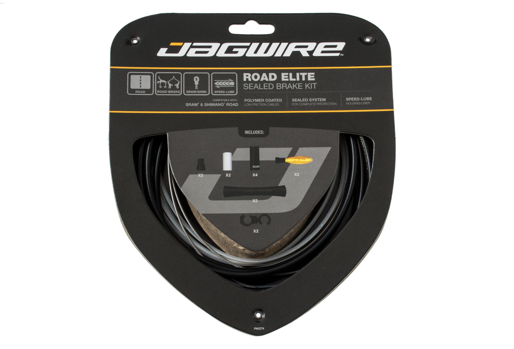 Jagwire Road Elite Sealed Brake Cable Kit SRAM//Shimano with Ultra-Slick