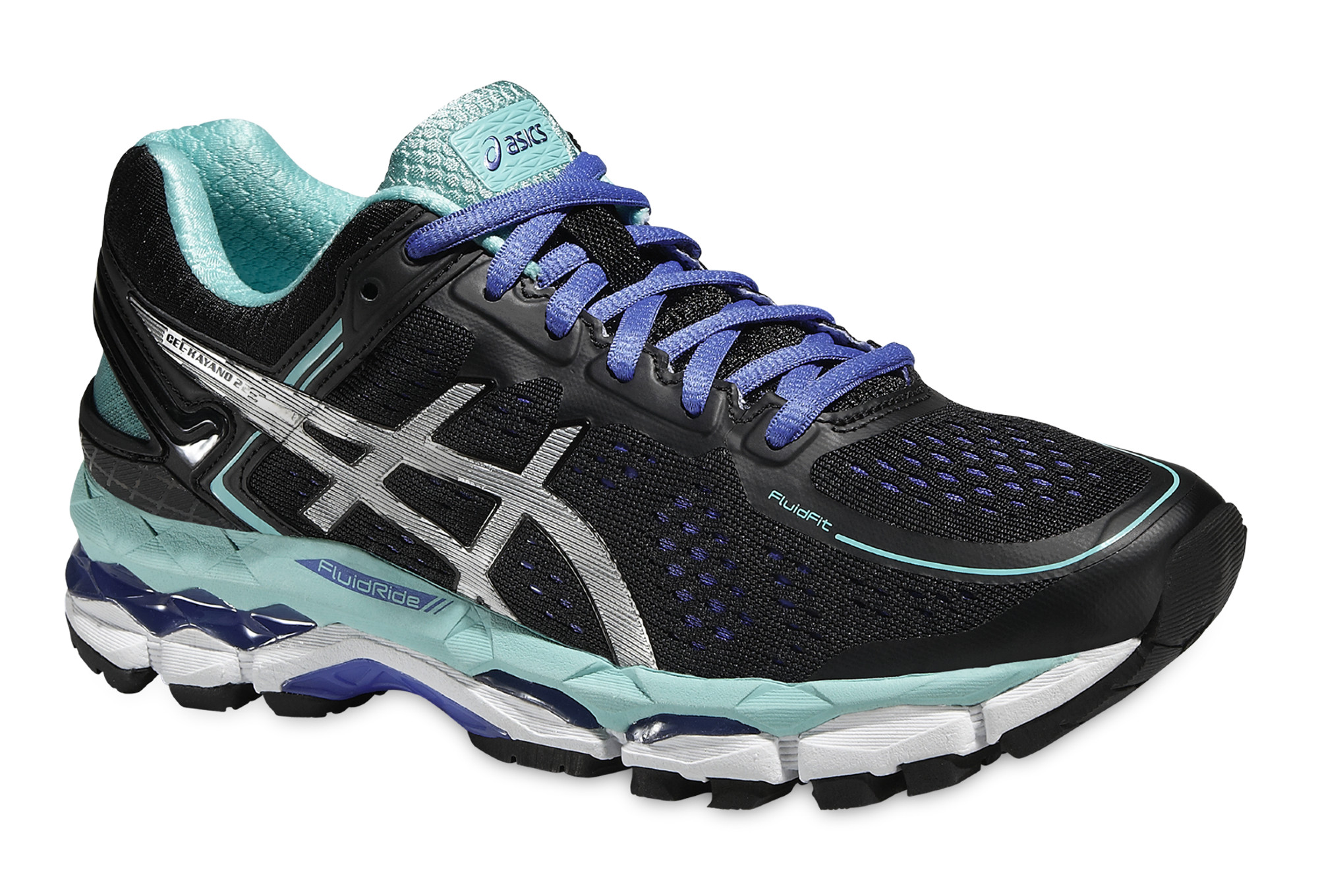 ASICS Shoes GEL KAYANO 22 Black Blue Women