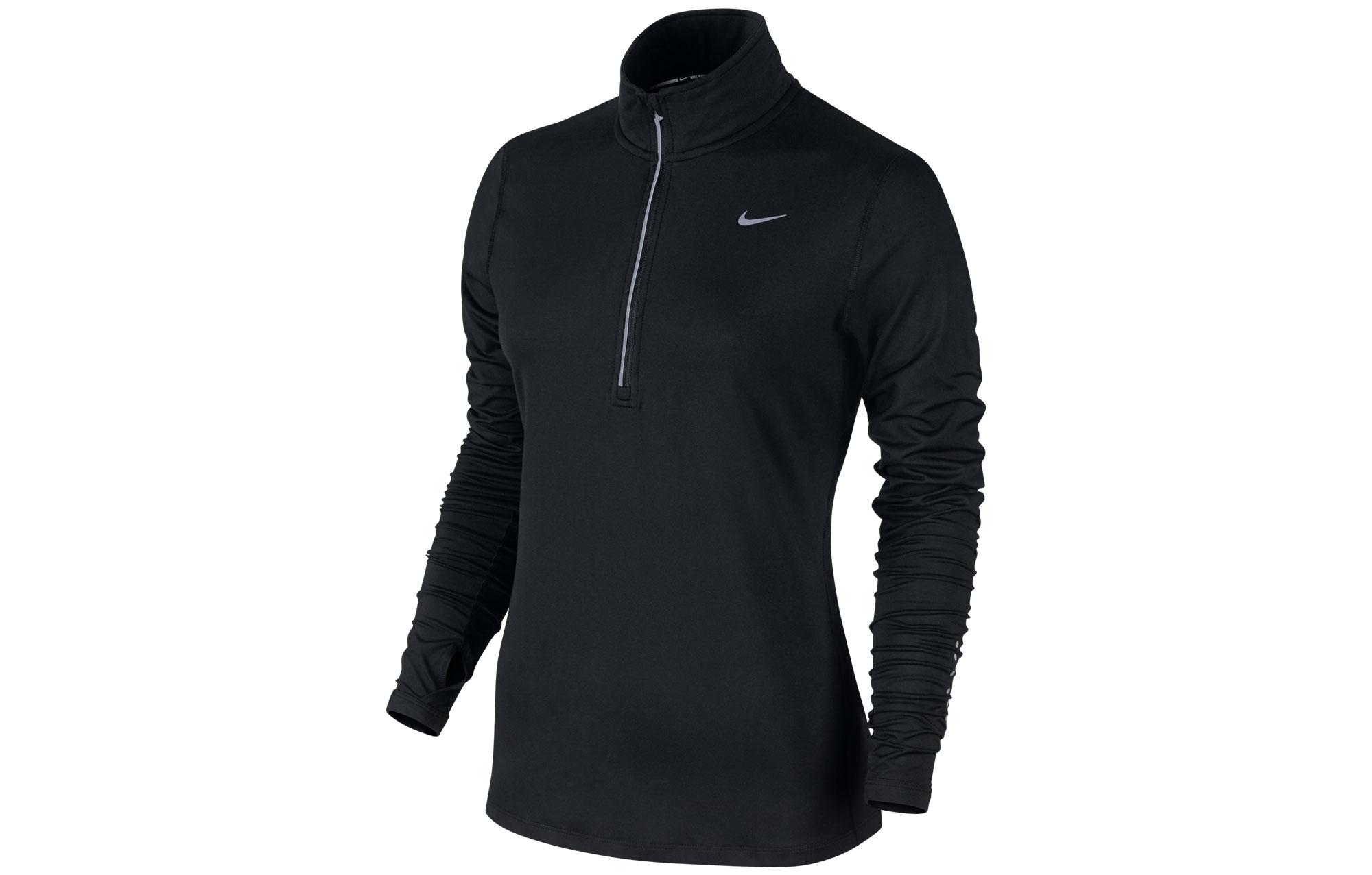Sweat Nike Noir Element Shirt Zip Femme Half Ad4Tw