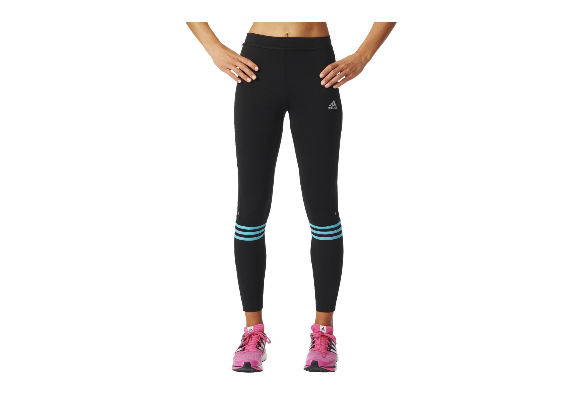 5f82a7e8902 adidas RESPONSE Long Tights Black Blue Women | Alltricks.com