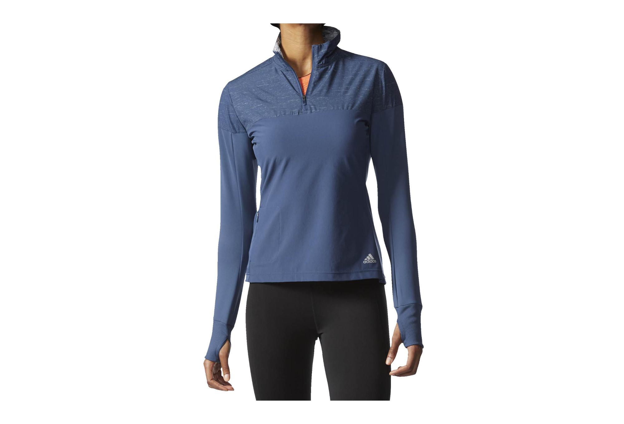 adidas SUPERNOVA STORM Jacket Half-Zip Blue Women
