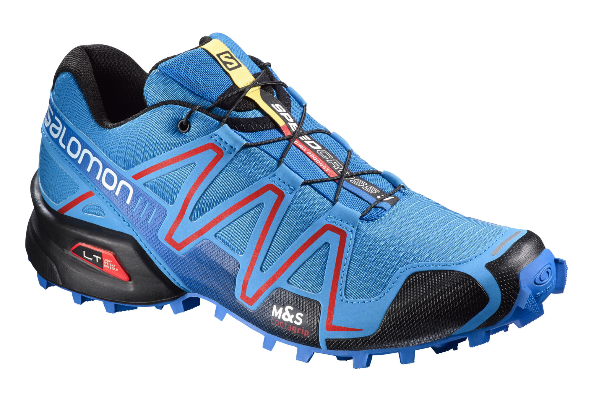 chaussures de trail salomon speedcross 3 noir bleu. Black Bedroom Furniture Sets. Home Design Ideas