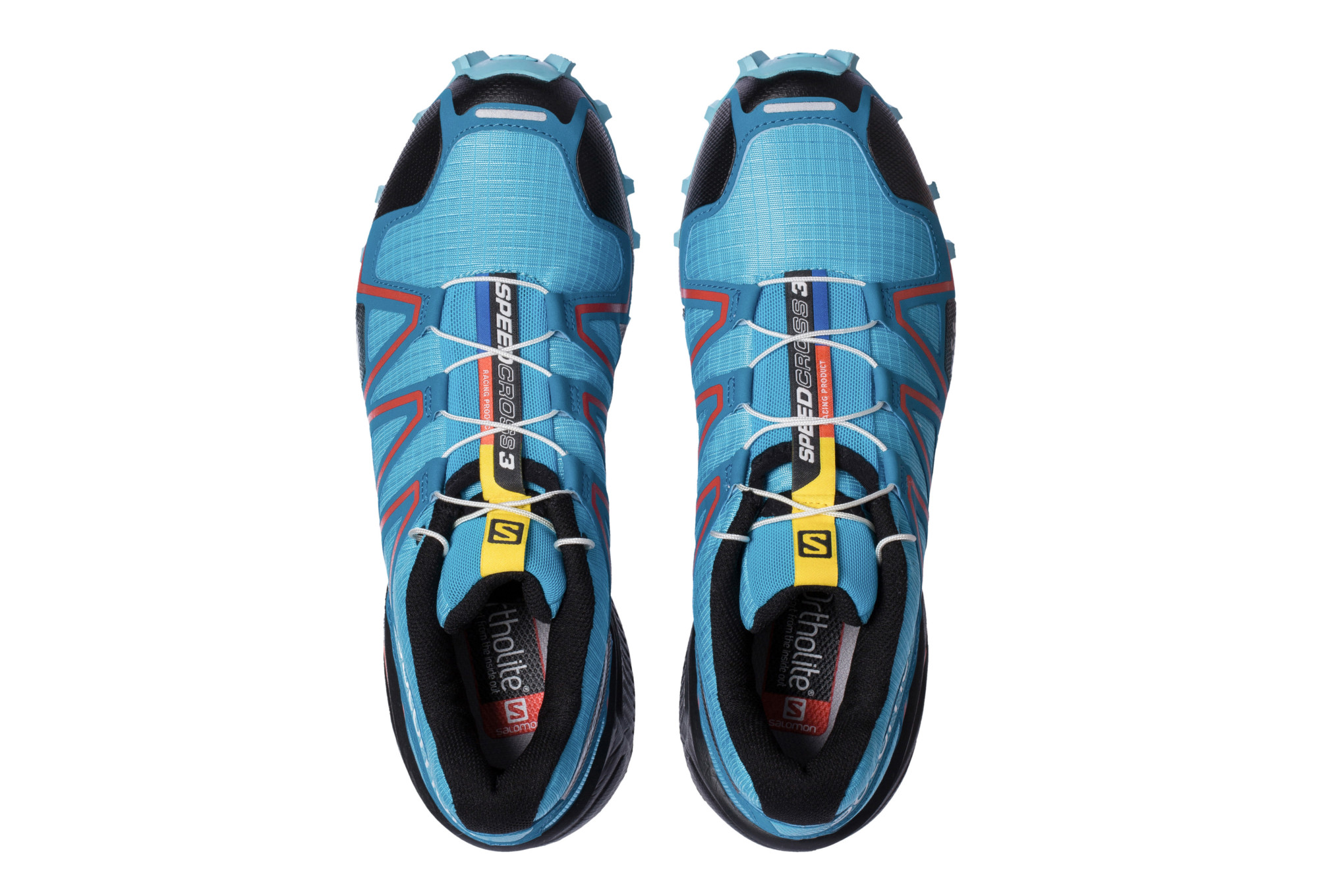chaussures de trail femme salomon speedcross 3 noir bleu rouge. Black Bedroom Furniture Sets. Home Design Ideas