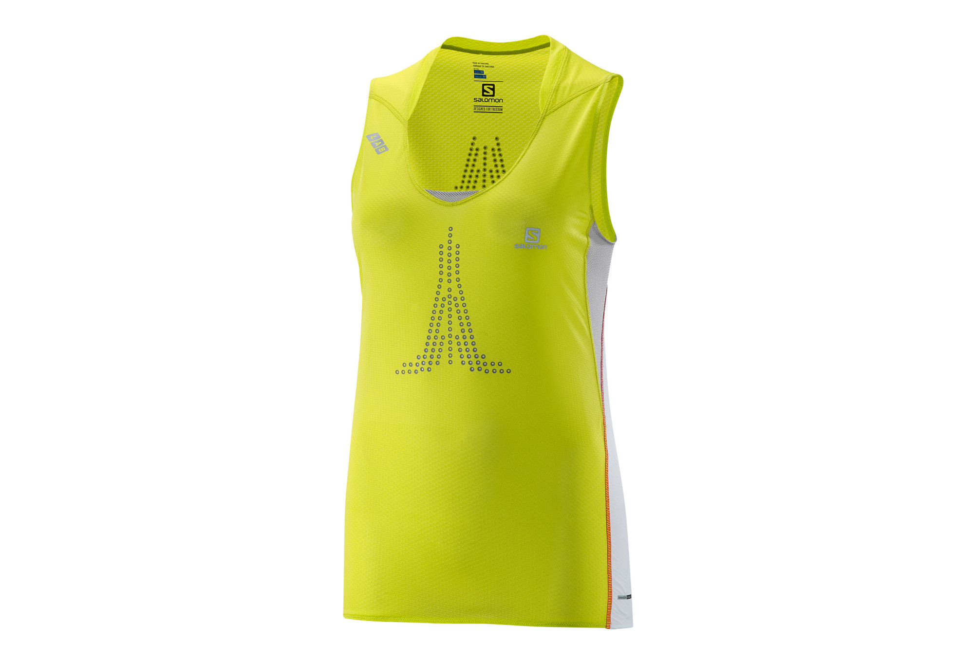 detailed look b6cf6 6461d SALOMON Jersey S-LAB SENSE TANK Yellow White Women