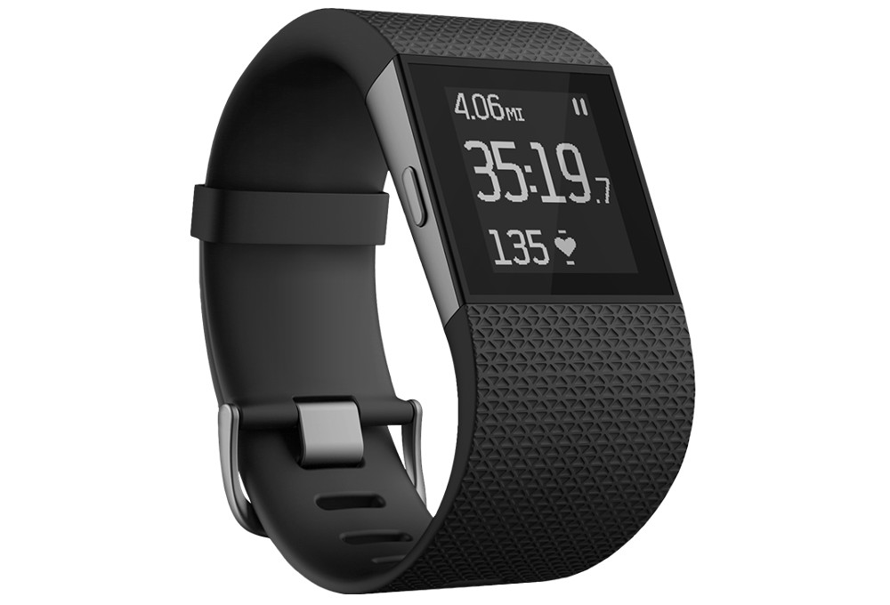 FITBIT Heart Rate Watch SURGE Black