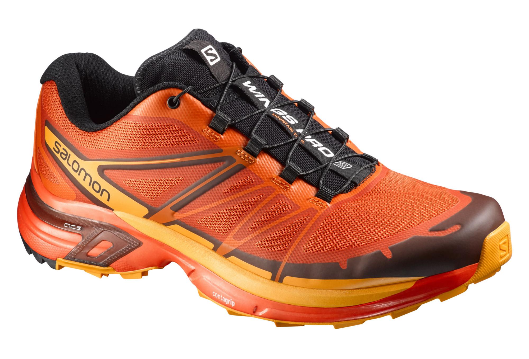 Salomon Wings Pro 2 Orange - Chaussures Chaussures-de-running Homme