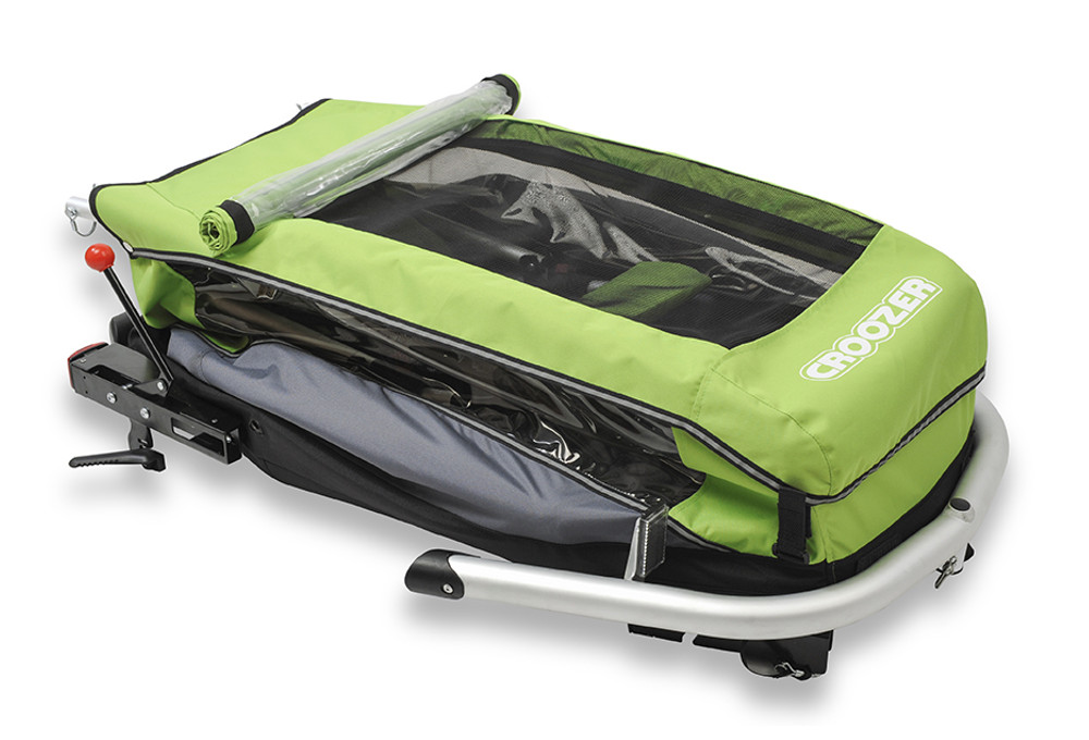 fahrrad kinderanh nger croozer einsitzer gr n. Black Bedroom Furniture Sets. Home Design Ideas