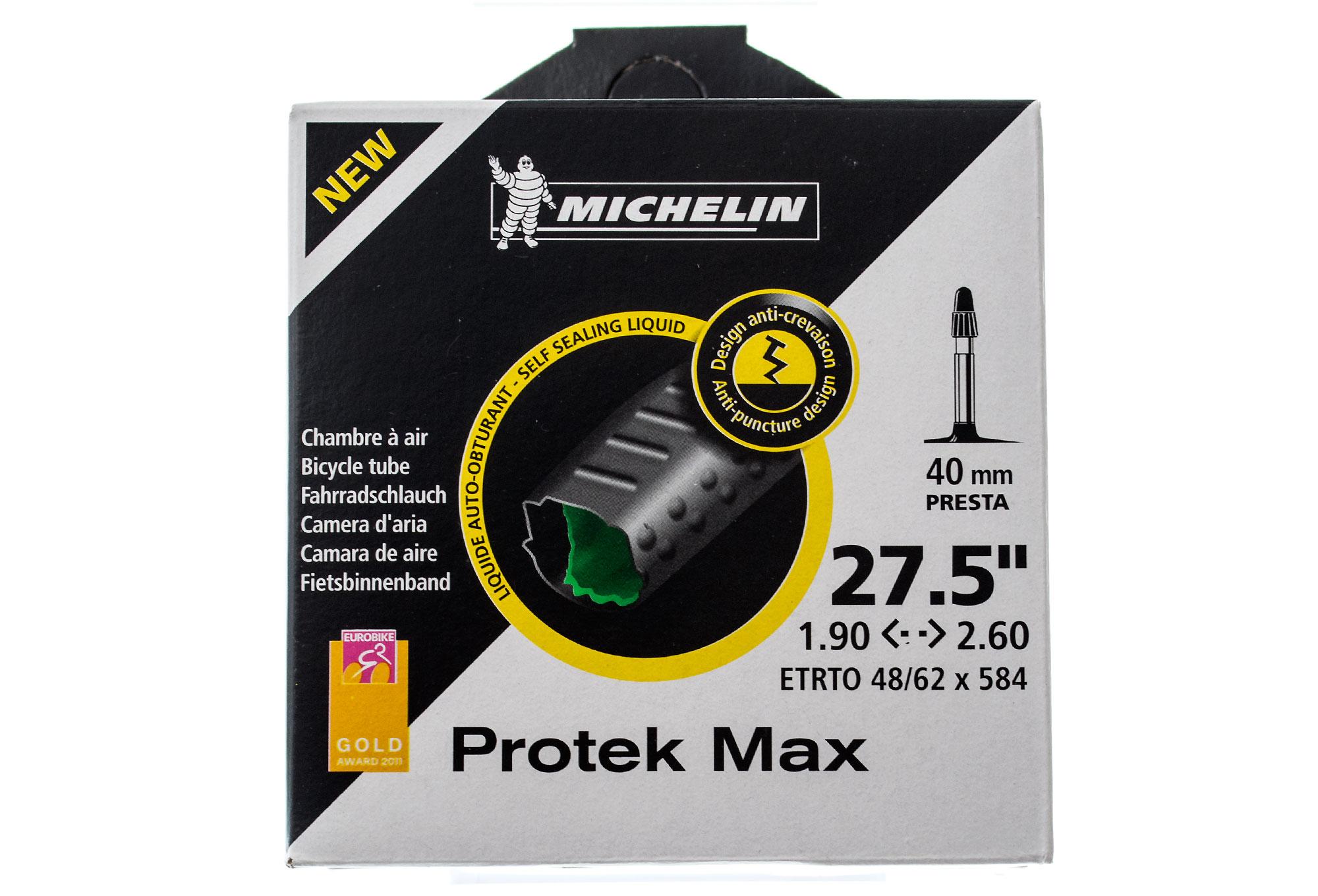 Michelin protek max mtb tube 190 presta 40mm for Chambre a air velo
