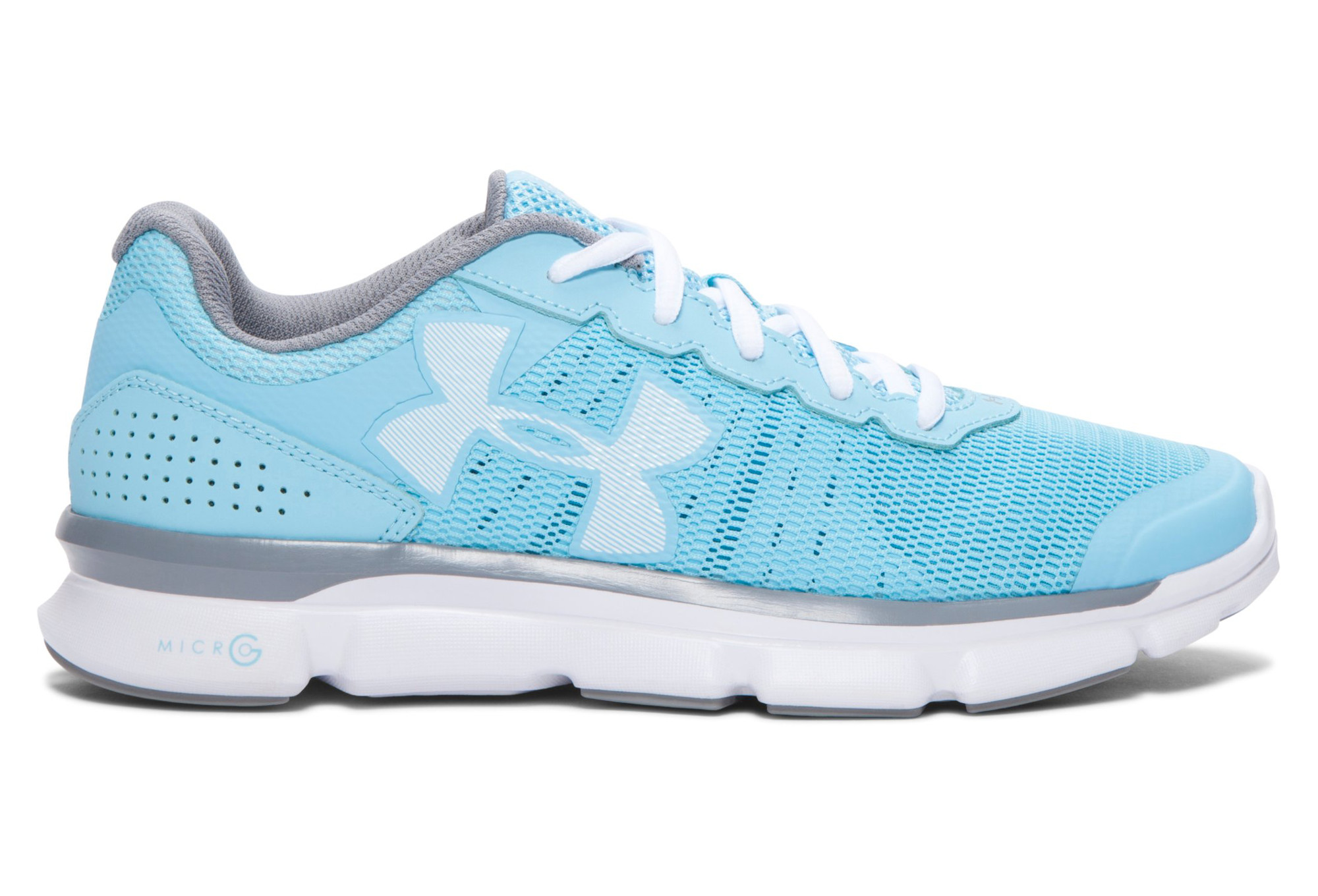 UNDER ARMOUR Pair of Shoes MICRO G SPEED SWIFT Blue White Women ... 5d593d1e14