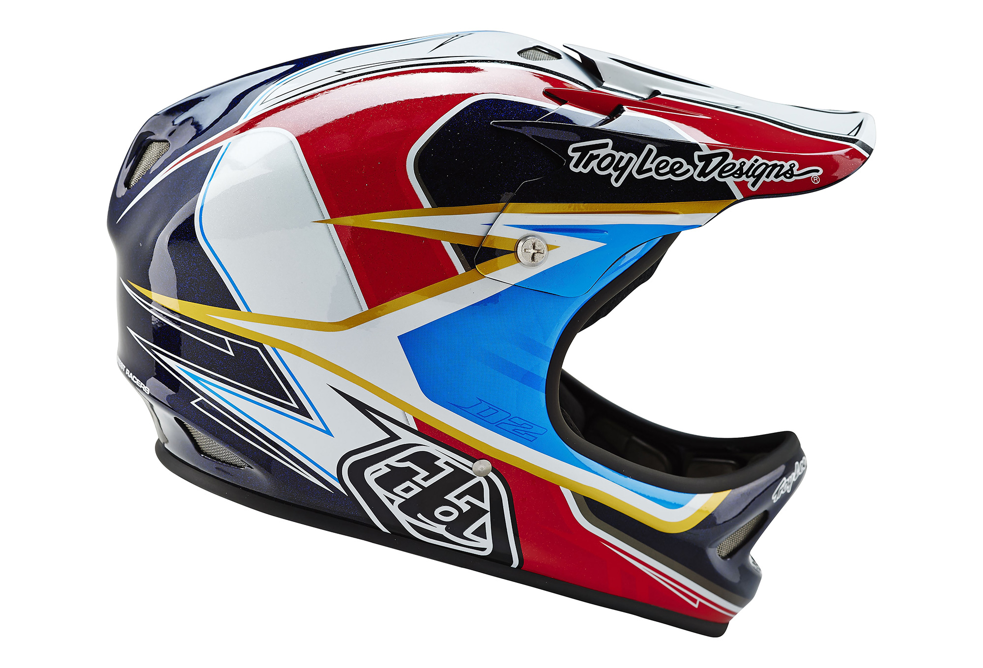 Troy Lee Designs 2016 Casco D2 Sonar Rojo Blanco