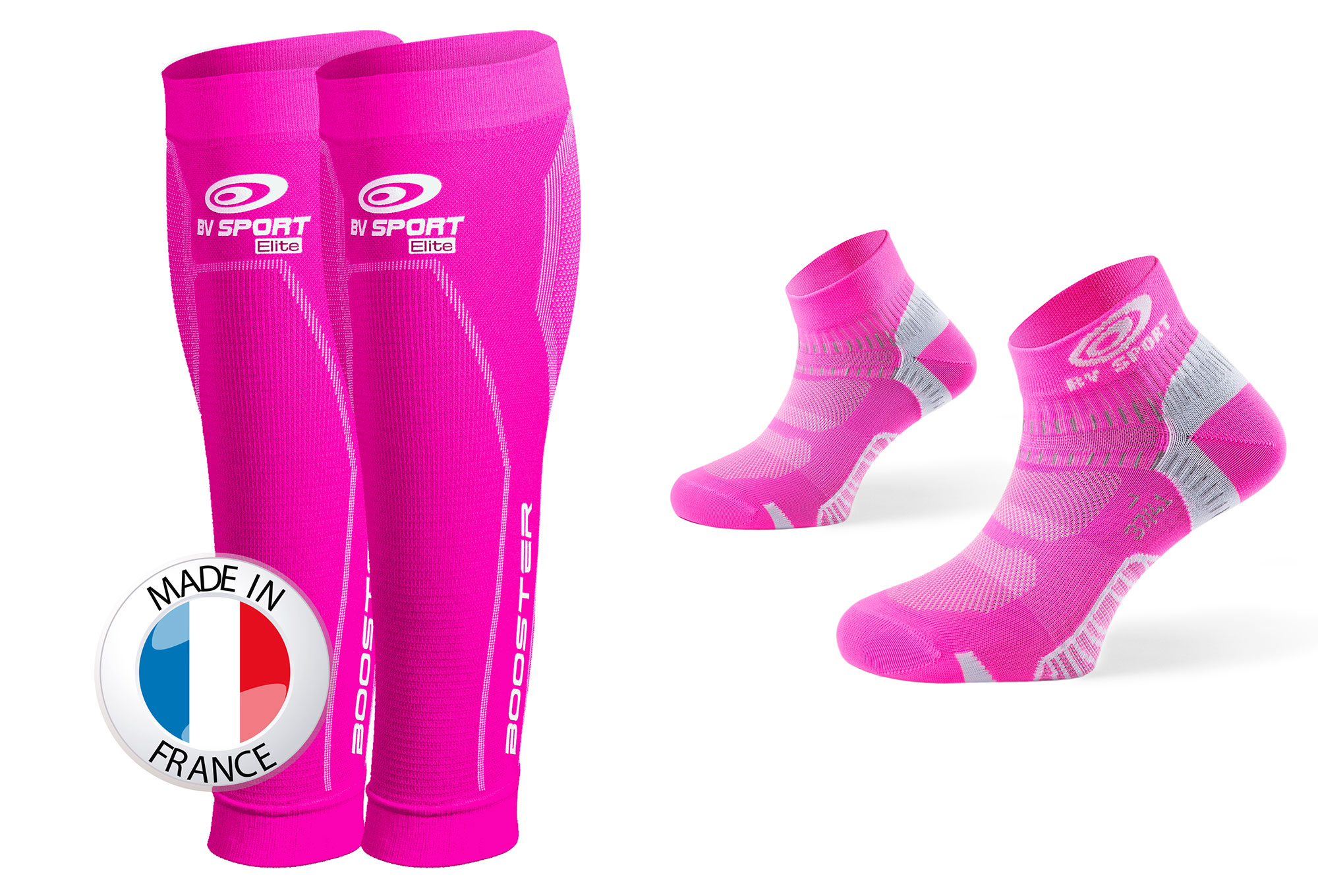 BV SPORT BOOSTER ELITE Effort Sleeve + Calcetines talla 37-41 rosa ...