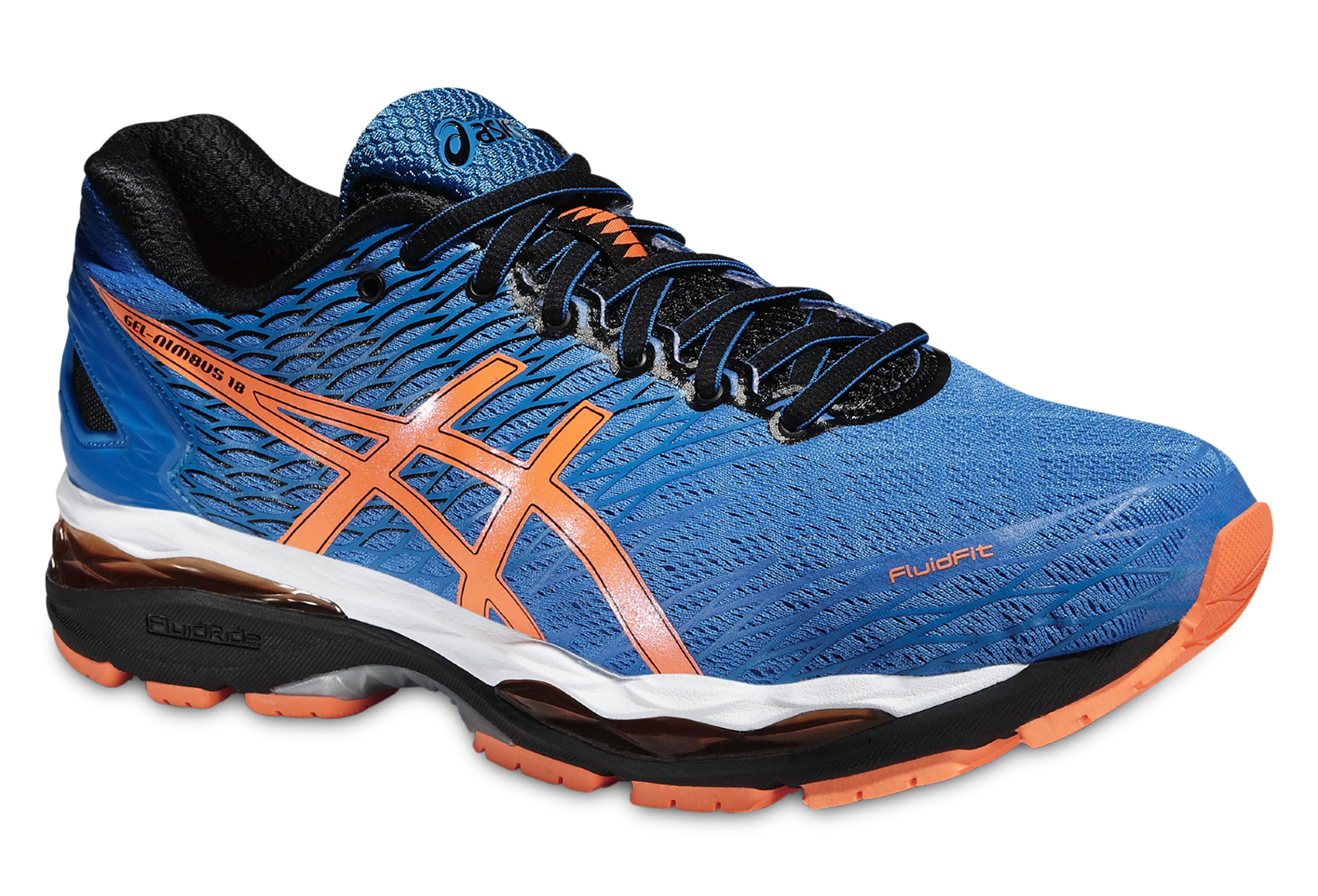 ASICS GEL NIMBUS 18 Bleu Orange Noir