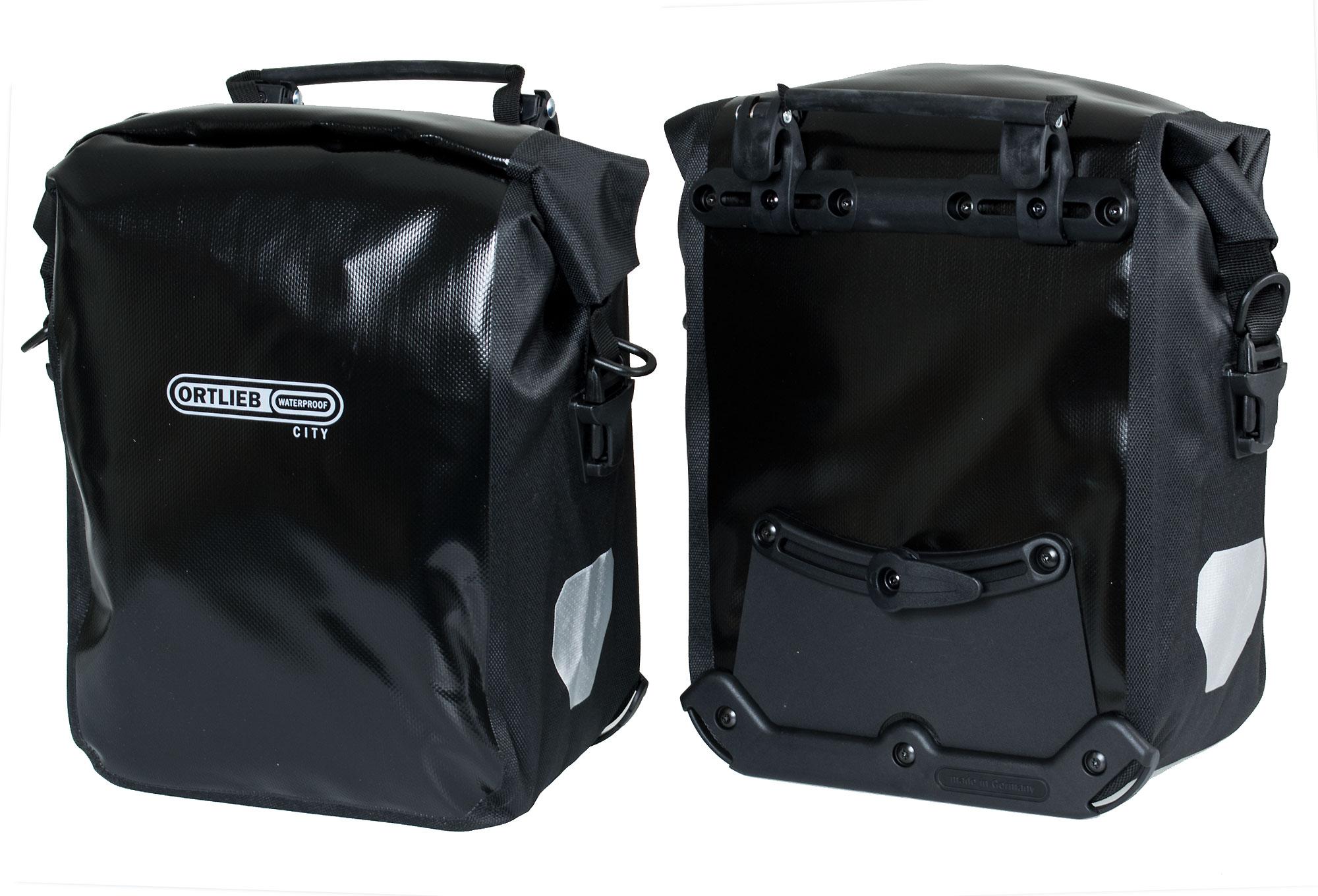 ortlieb paar trunk bag front roller city schwarz. Black Bedroom Furniture Sets. Home Design Ideas