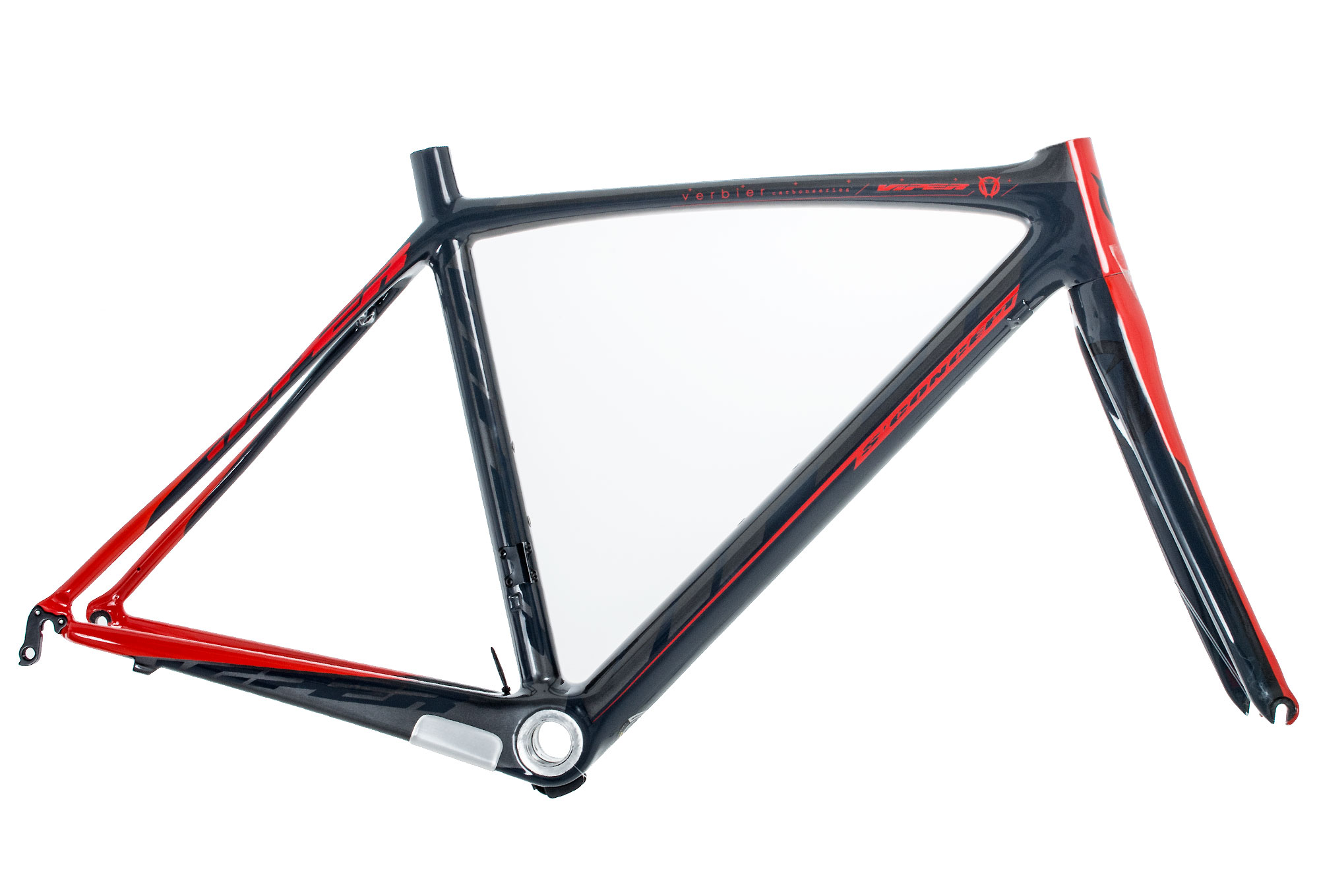 Rennrad Rahmen-Kit VIPER Verbier - grau / rot   Alltricks.de