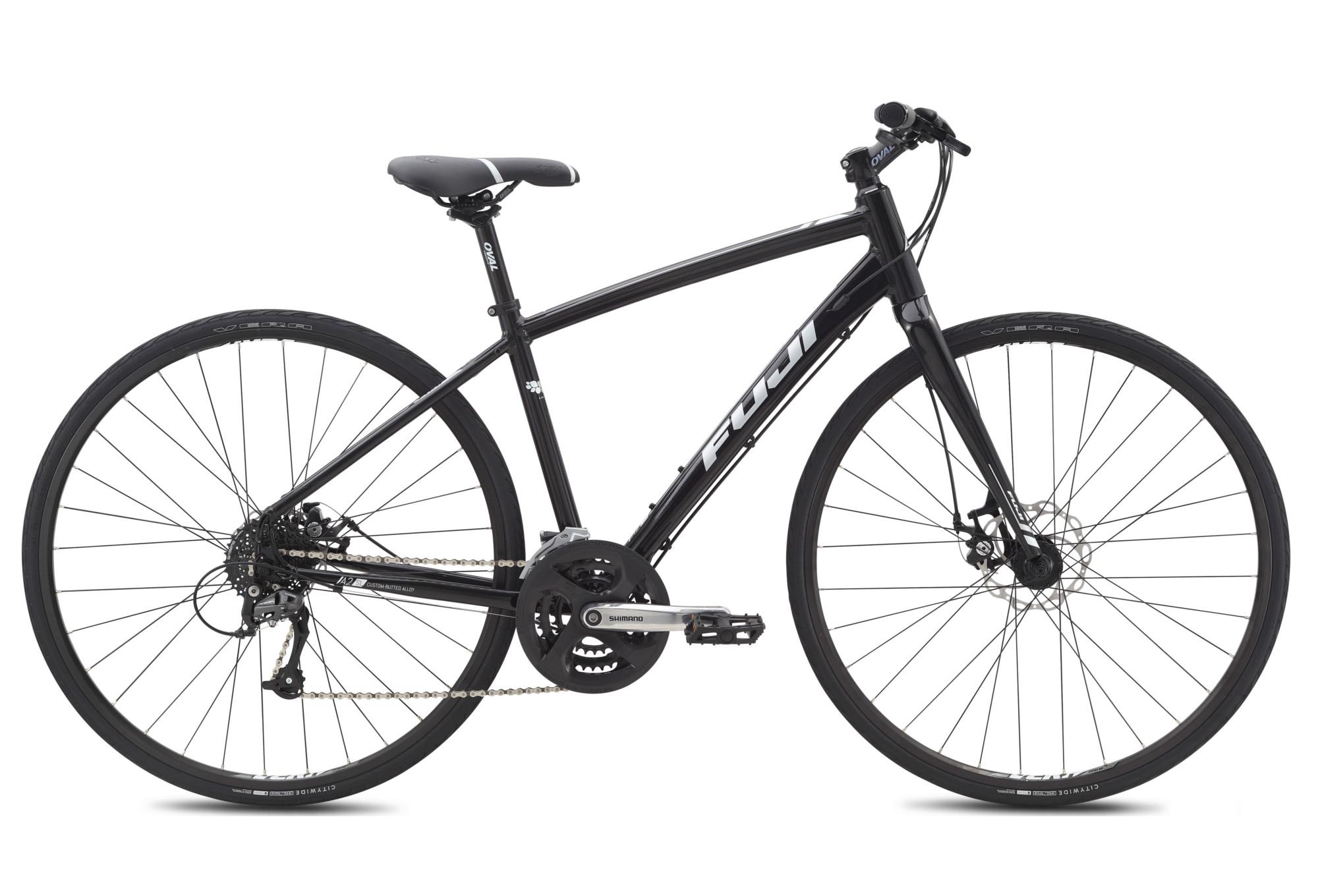 Fuji Woman City Bike Silhouette 1 7 Disc 700c Shimano Alivio 9 Speed Black White