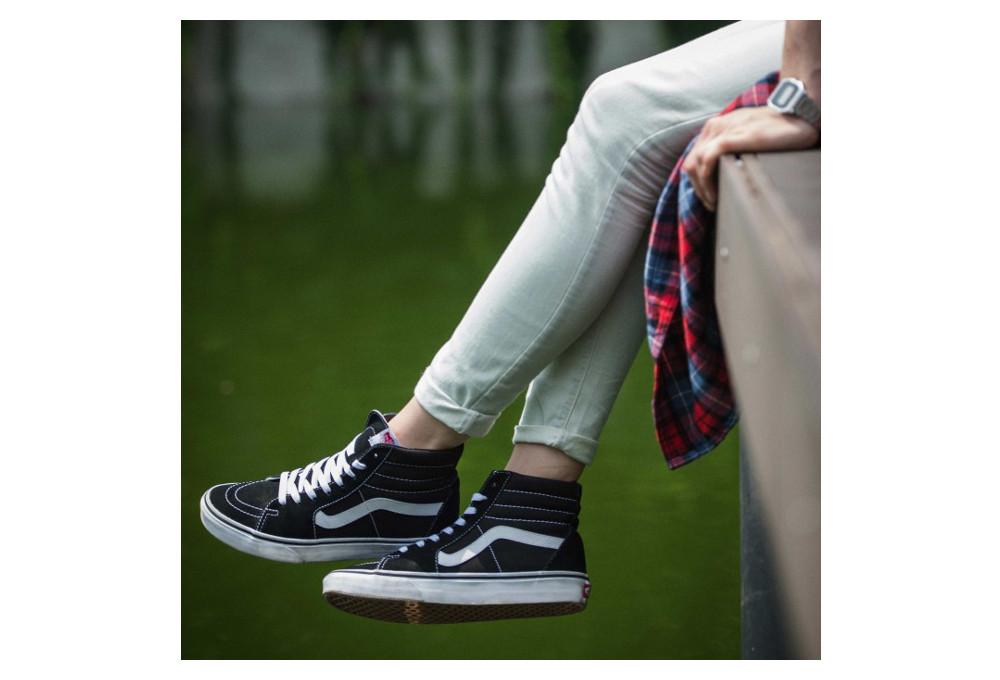 VANS Shoes SK8-HI Noir Blanc | Alltricks.com