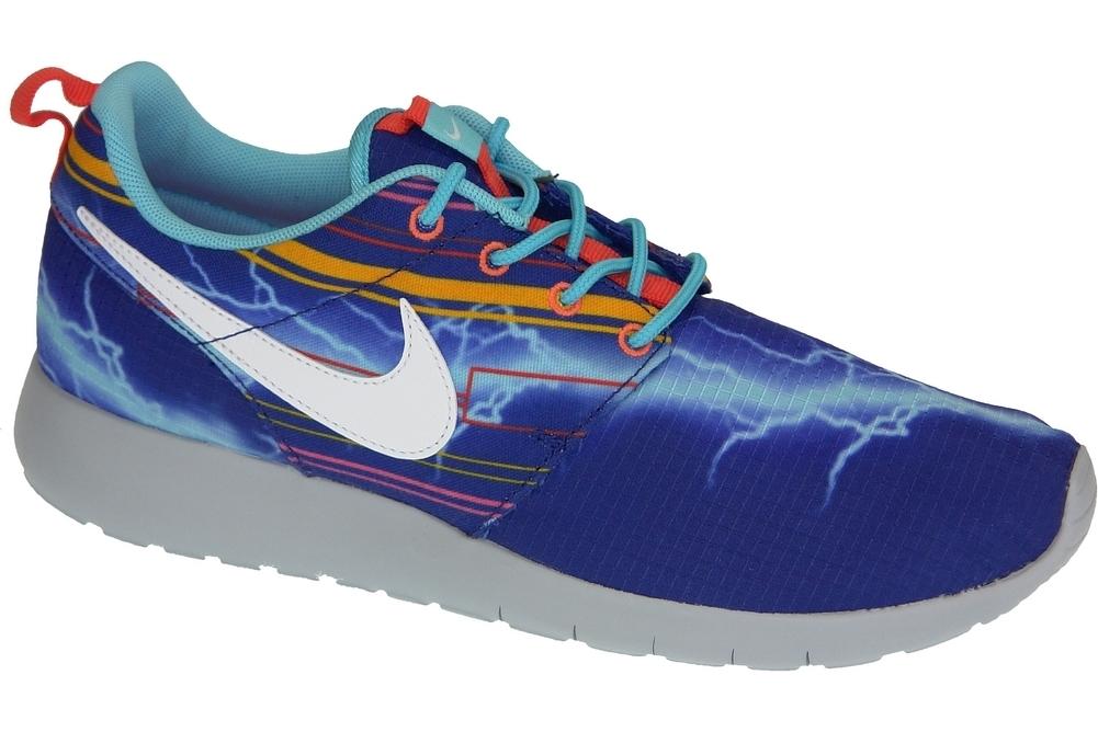 Royaume-Uni disponibilité a7f3b 4d9f9 Nike Rosherun Print Gs 677782-401 Bleu