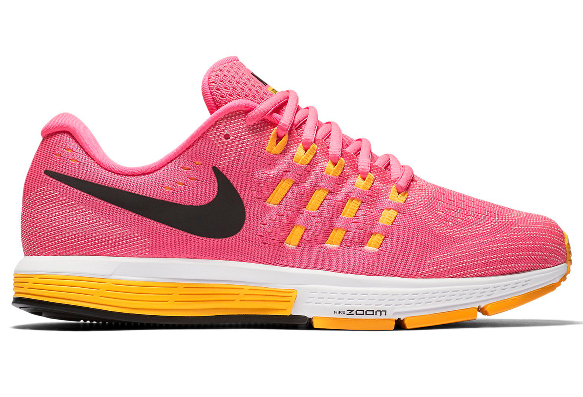 WOMENS NIKE AIR ZOOM VOMERO 11 RUNNING  SHOES/ SIZE 9 / PINK / ORANGE