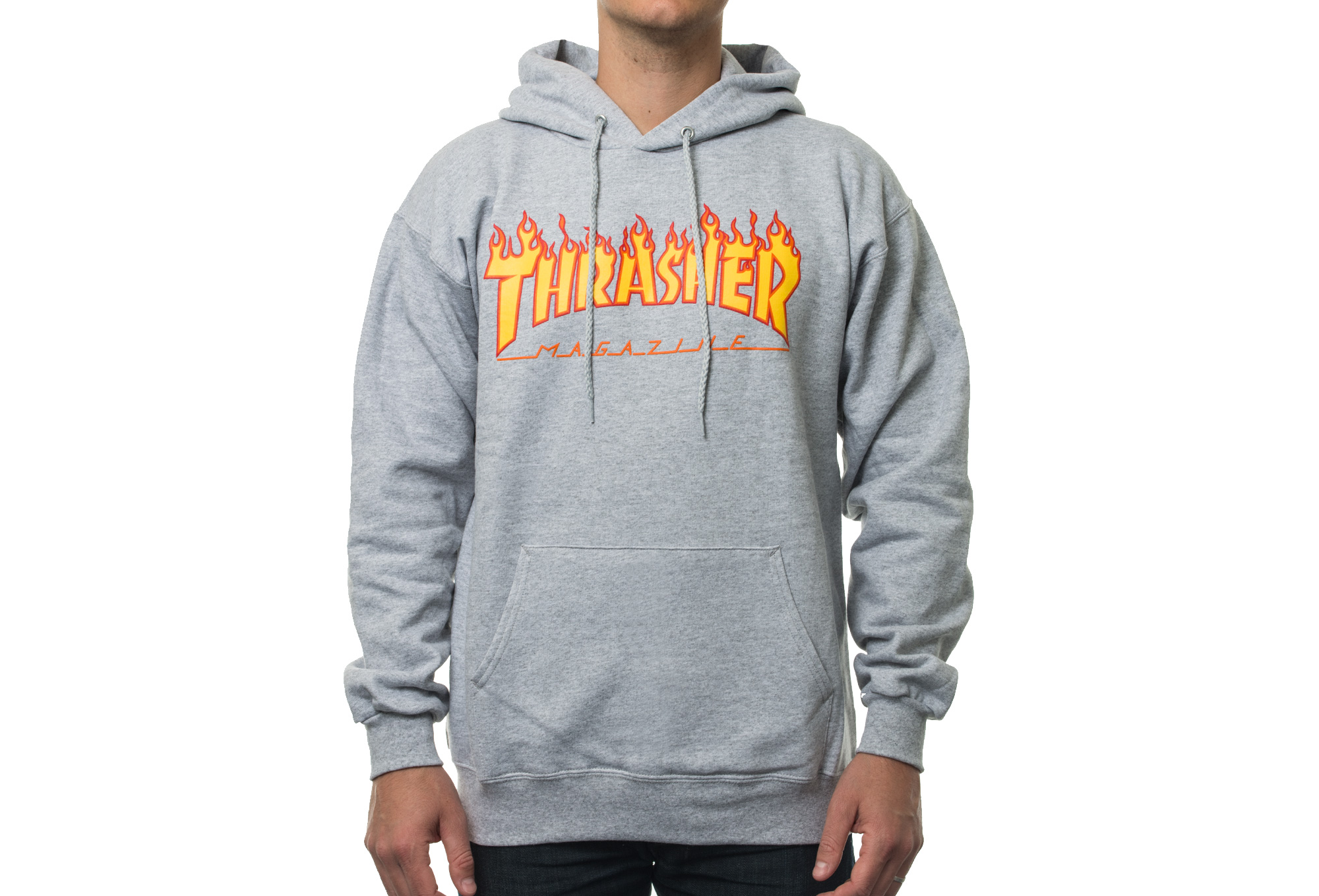 thrasher flame logo hoodie grey. Black Bedroom Furniture Sets. Home Design Ideas