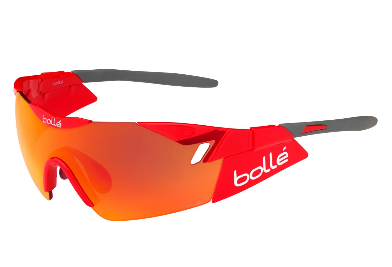 57b3917c50 Gafas de sol en bicicleta BOLLE 6th SENSE Red Grey - Rouge ...
