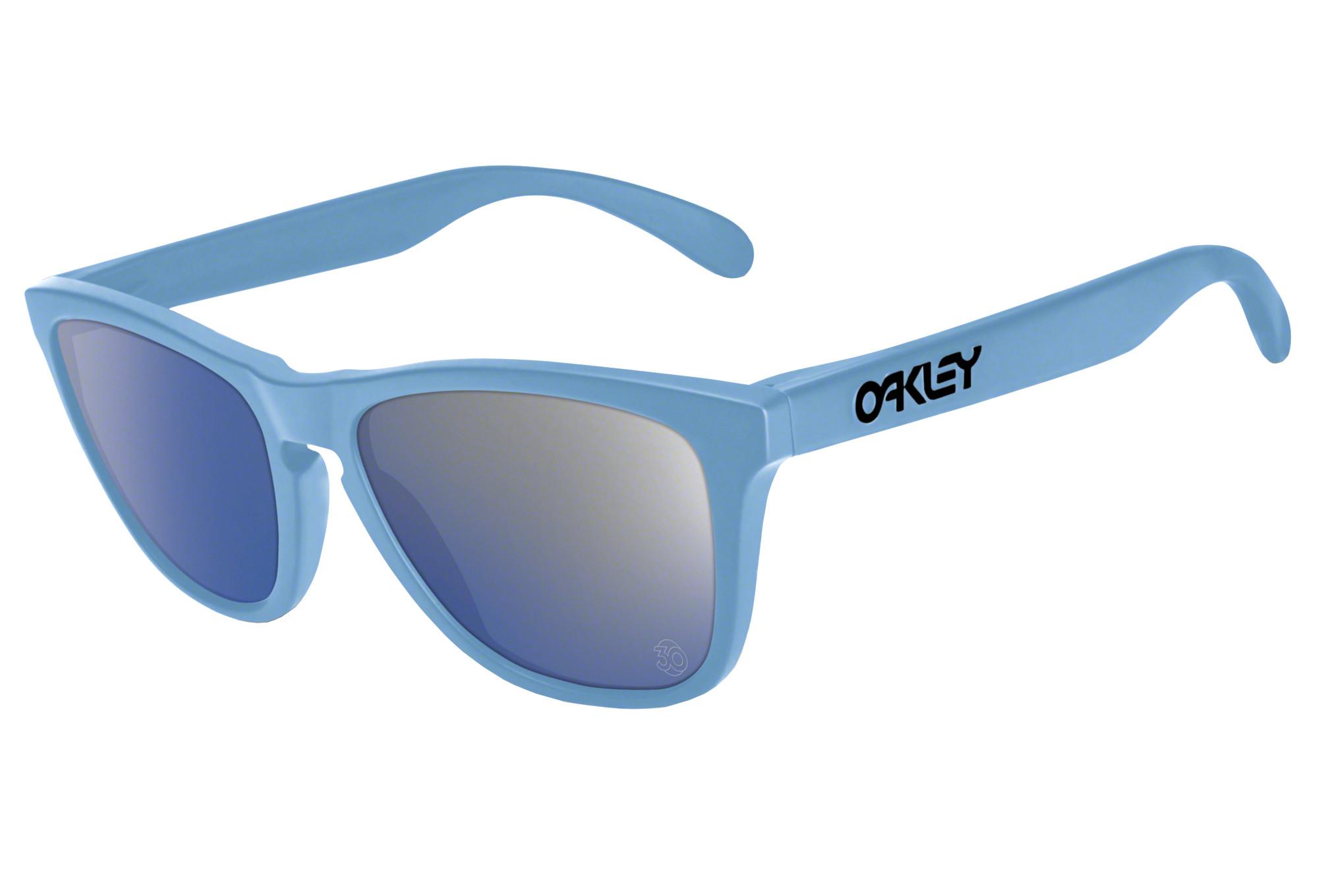 lunettes oakley frogskins bleu
