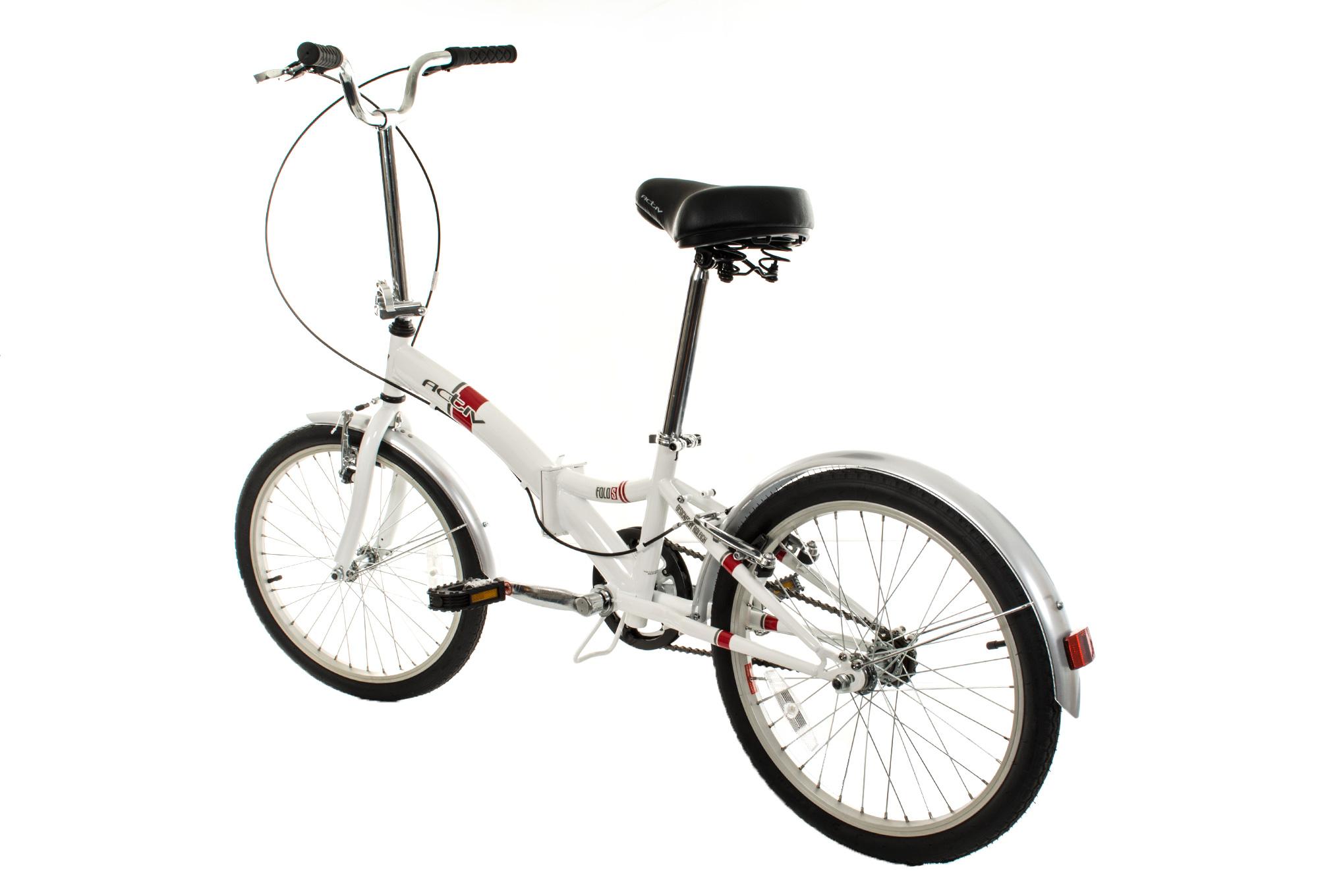 Bicicletta Pieghevole 20 Raleigh.Bici Pieghevole Raleigh Activ Fold S 20 Bianca Alltricks It