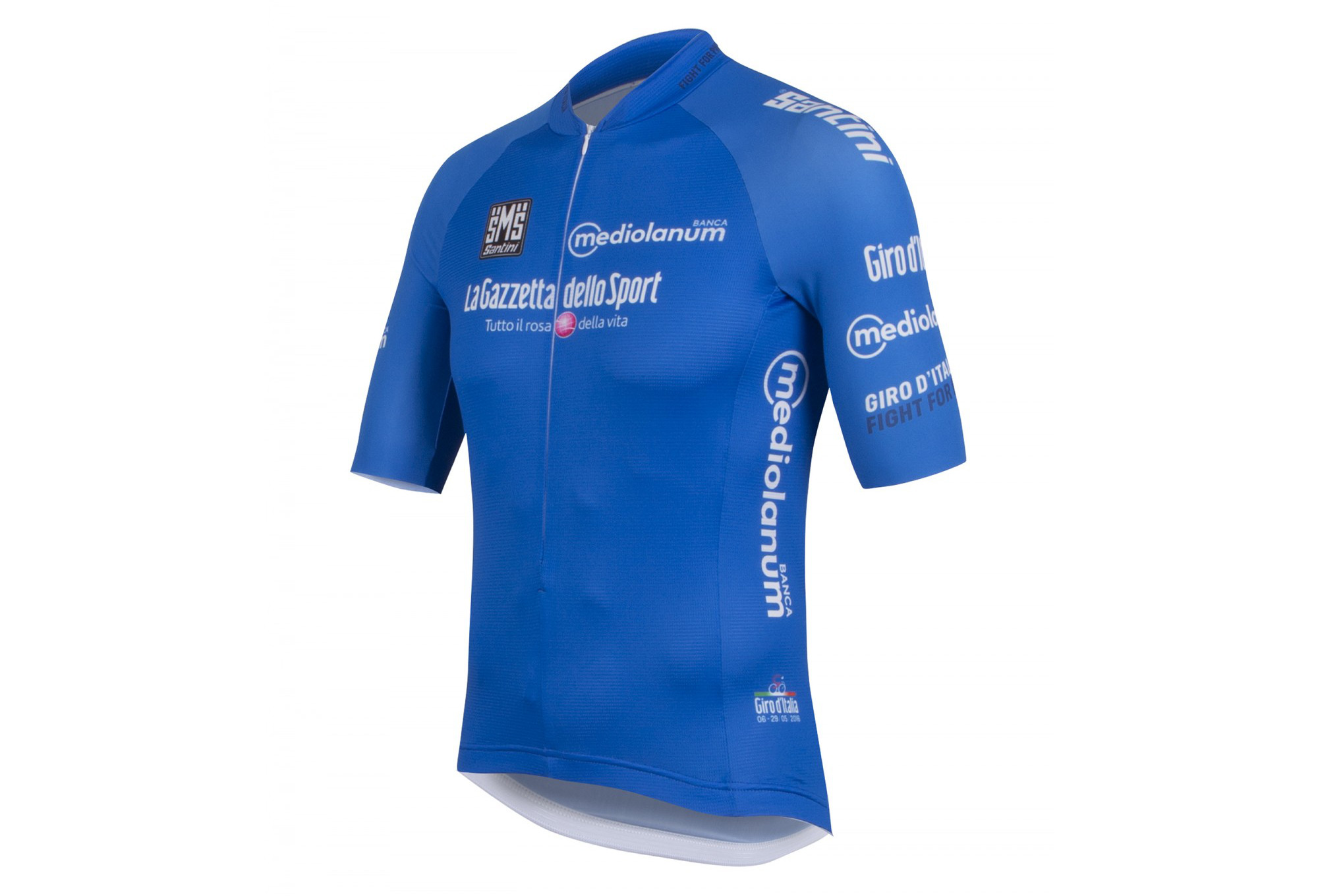 8fb817cbe3 SANTINI Short Sleeve Jersey GIRO D ITALIA 2016 Mountain Blue ...