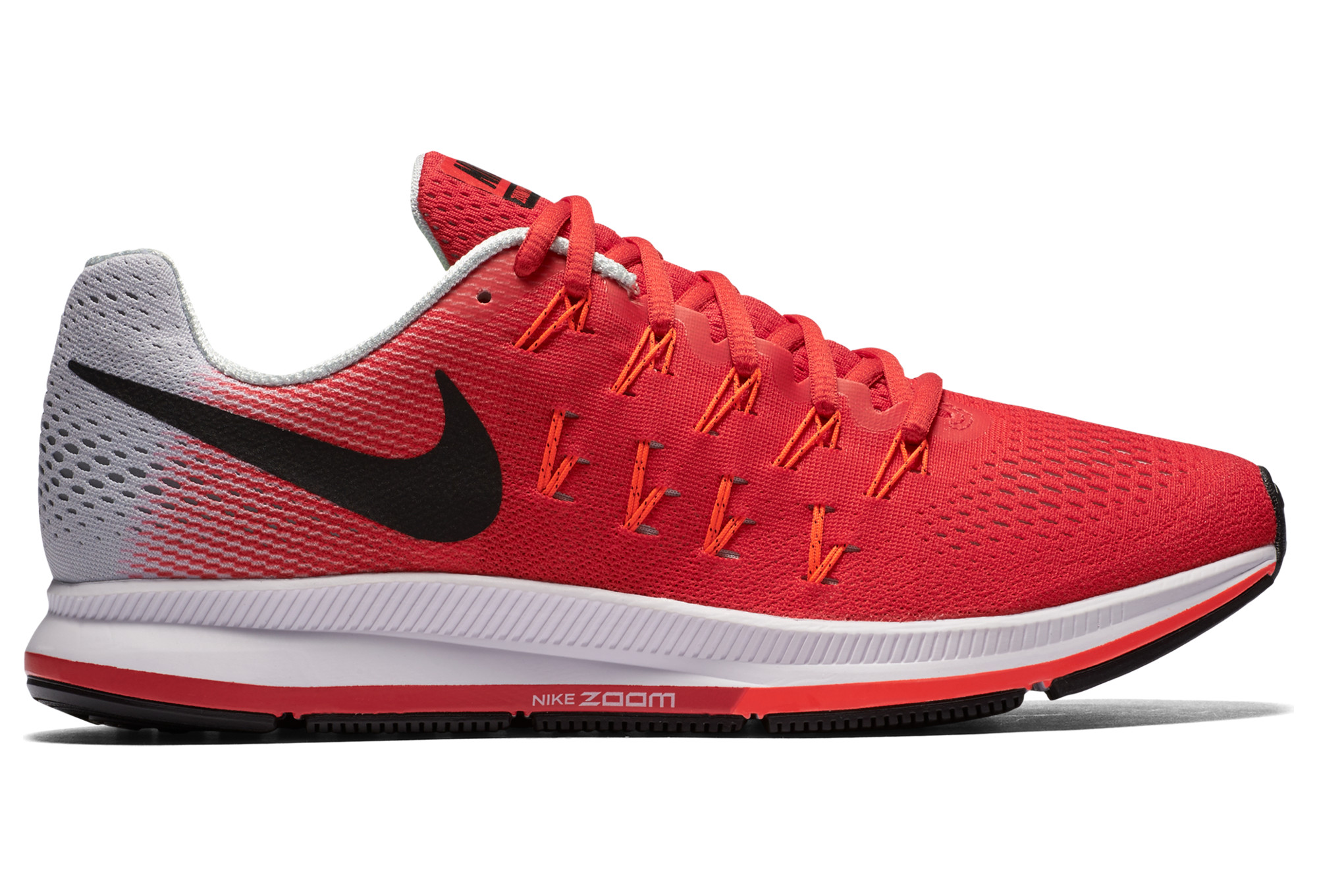 chaussures de running nike air zoom pegasus 33 rouge. Black Bedroom Furniture Sets. Home Design Ideas