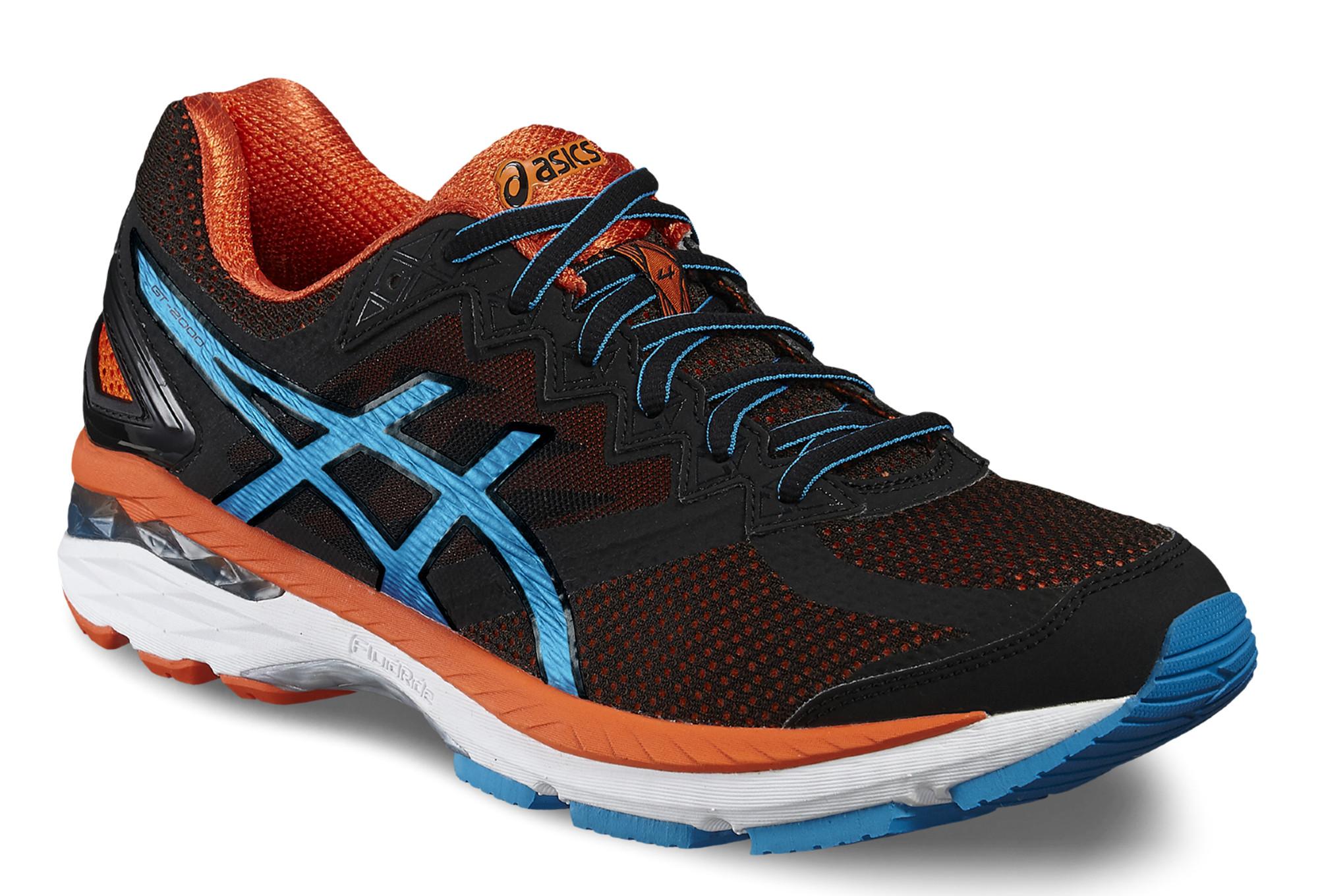 outlet store sale 2ed23 a3134 Chaussures de Running Asics GT 2000 4 Noir   Blanc   Orange