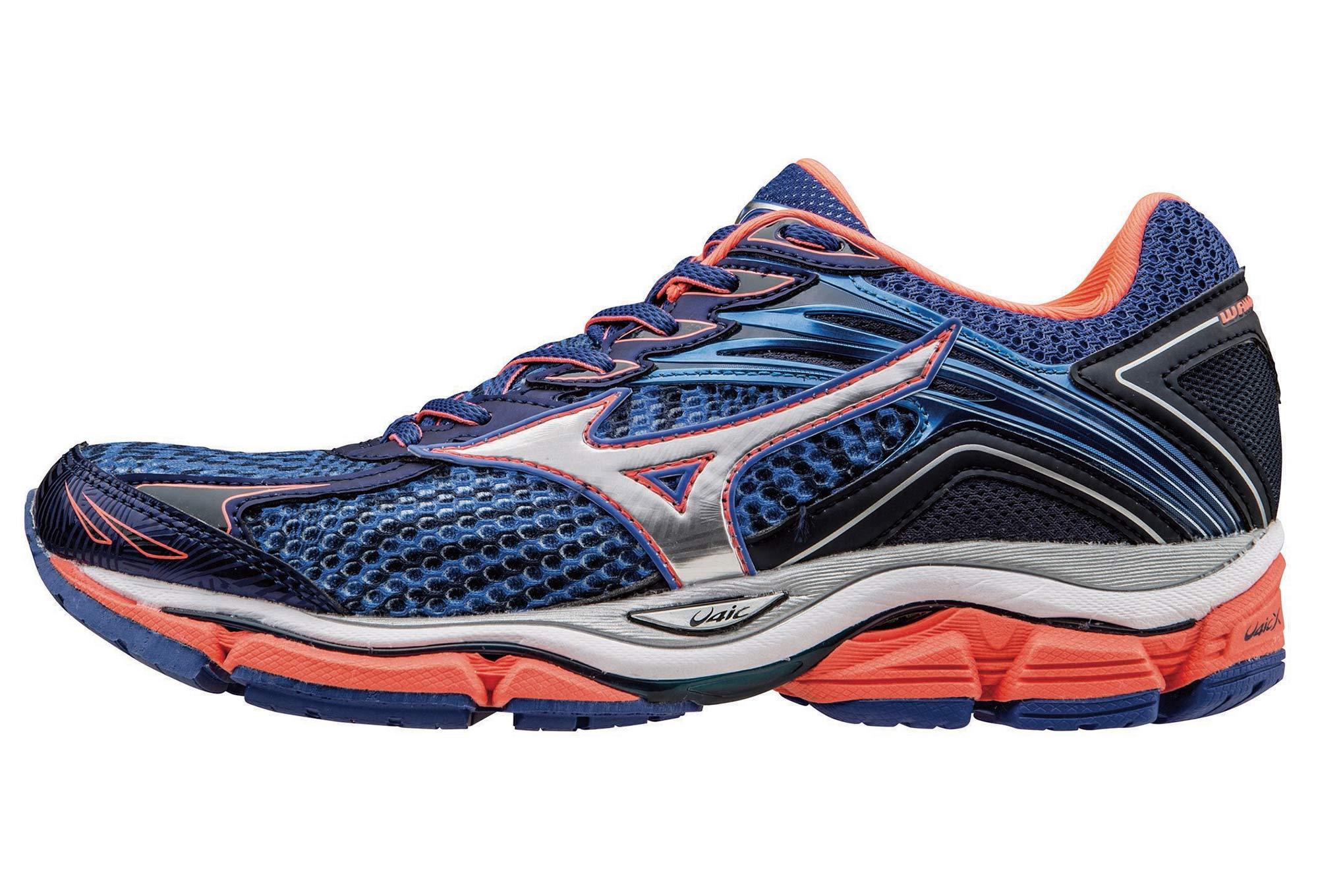 3499f6982ad Chaussures de Running Femme Mizuno WAVE ENIGMA 6 Bleu   Orange ...