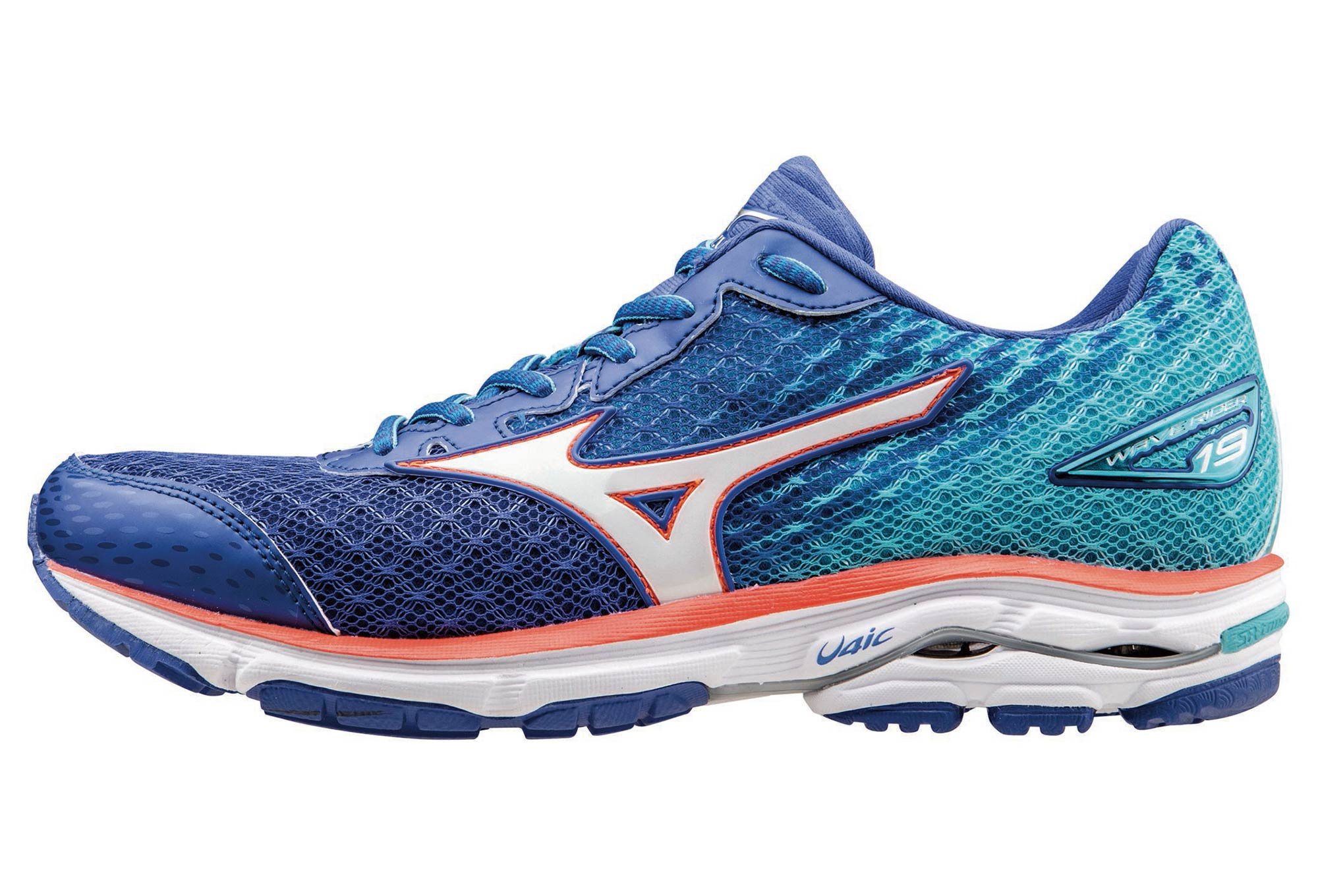 7f3aeccf7df Chaussures de Running Femme Mizuno WAVE RIDER 19 Bleu
