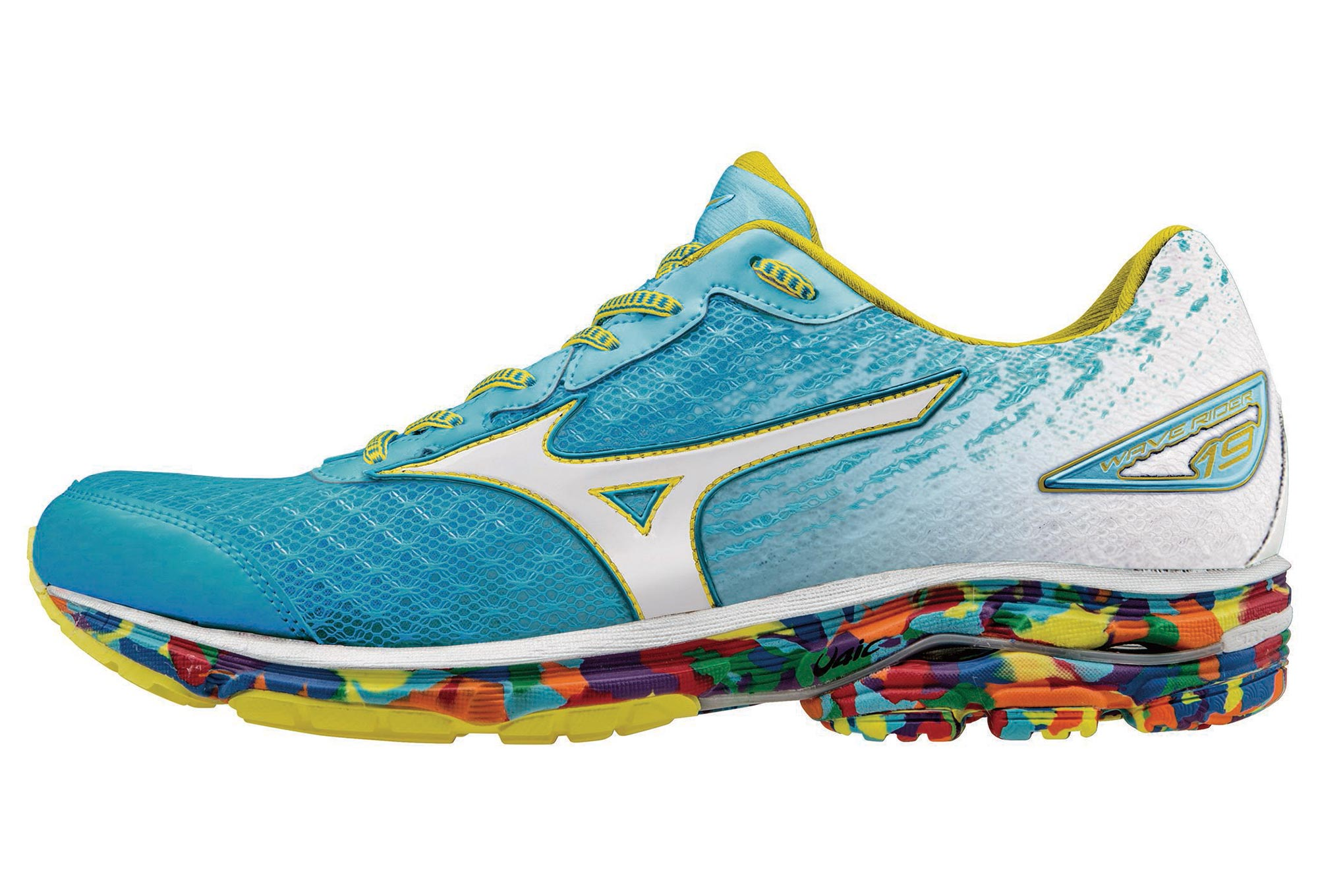 newest cdf73 91c80 MIZUNO Shoes WAVE RIDER 19 OSAKA Blue White Women