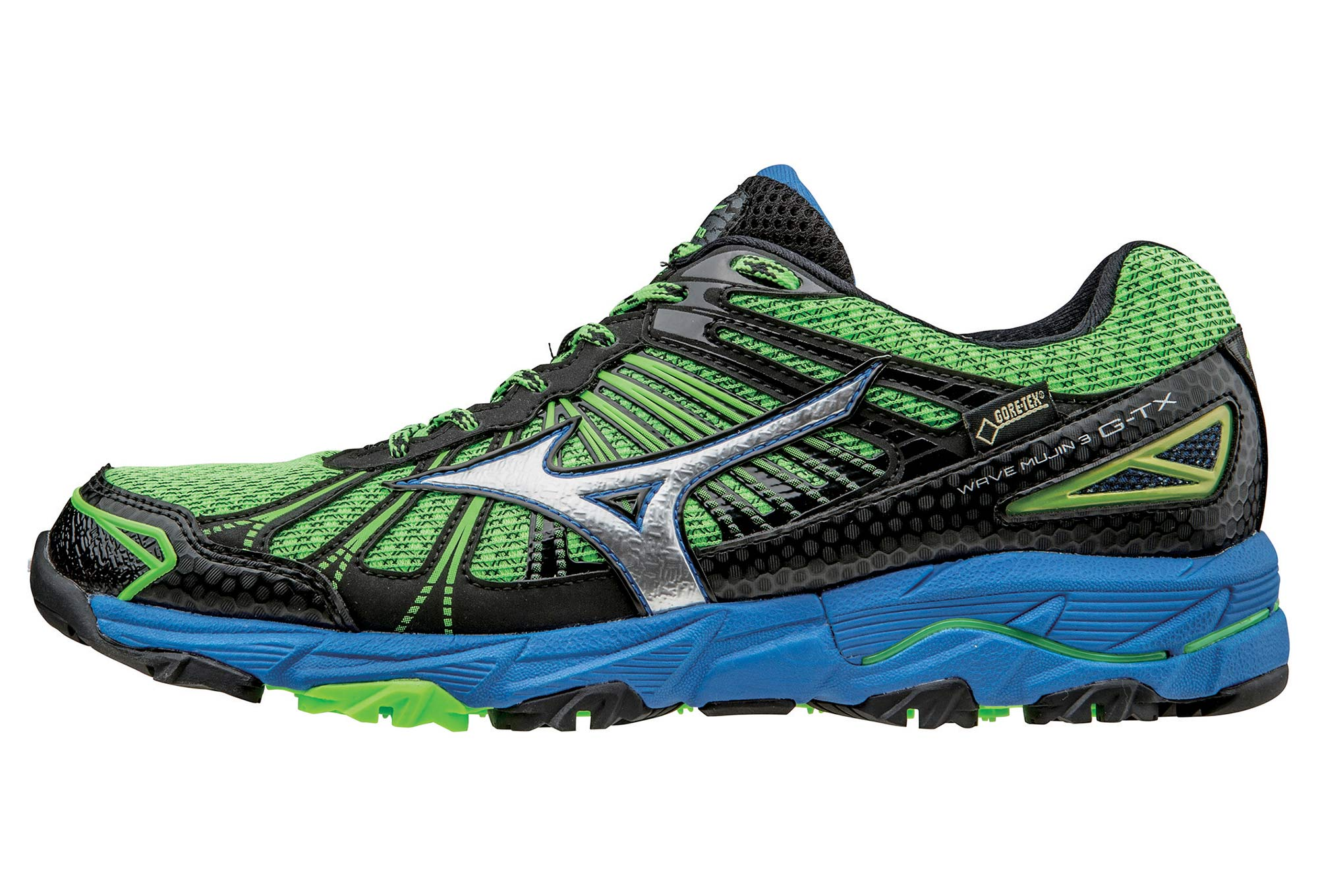 Mizuno De Chaussures Mujin Gtx Bleu Vert Trail Wave 3 wwfE4F