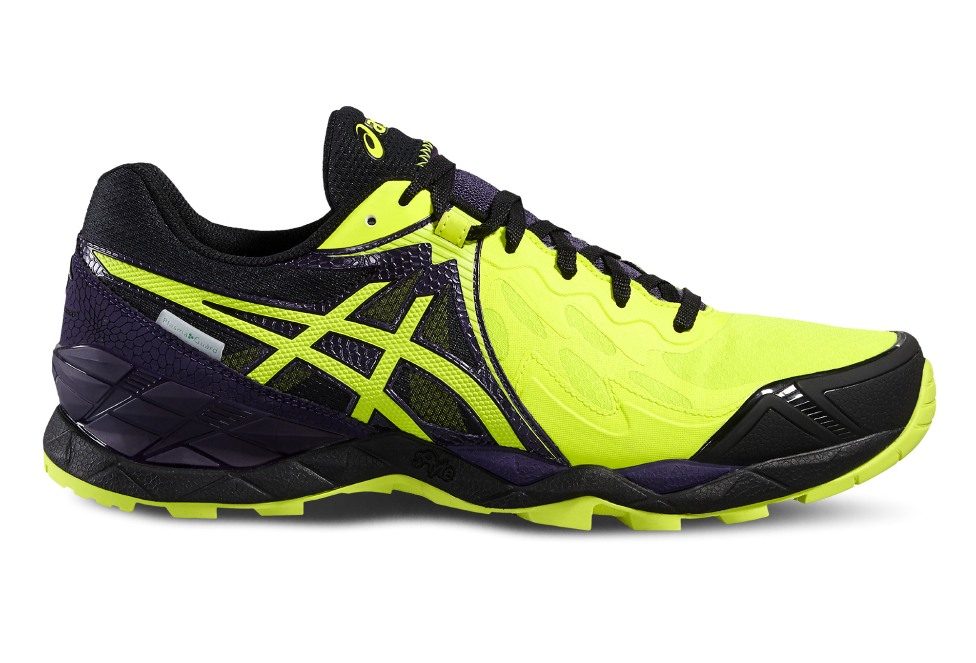 chaussures de trail asics gel fujiendurance plasmaguard jaune violet. Black Bedroom Furniture Sets. Home Design Ideas