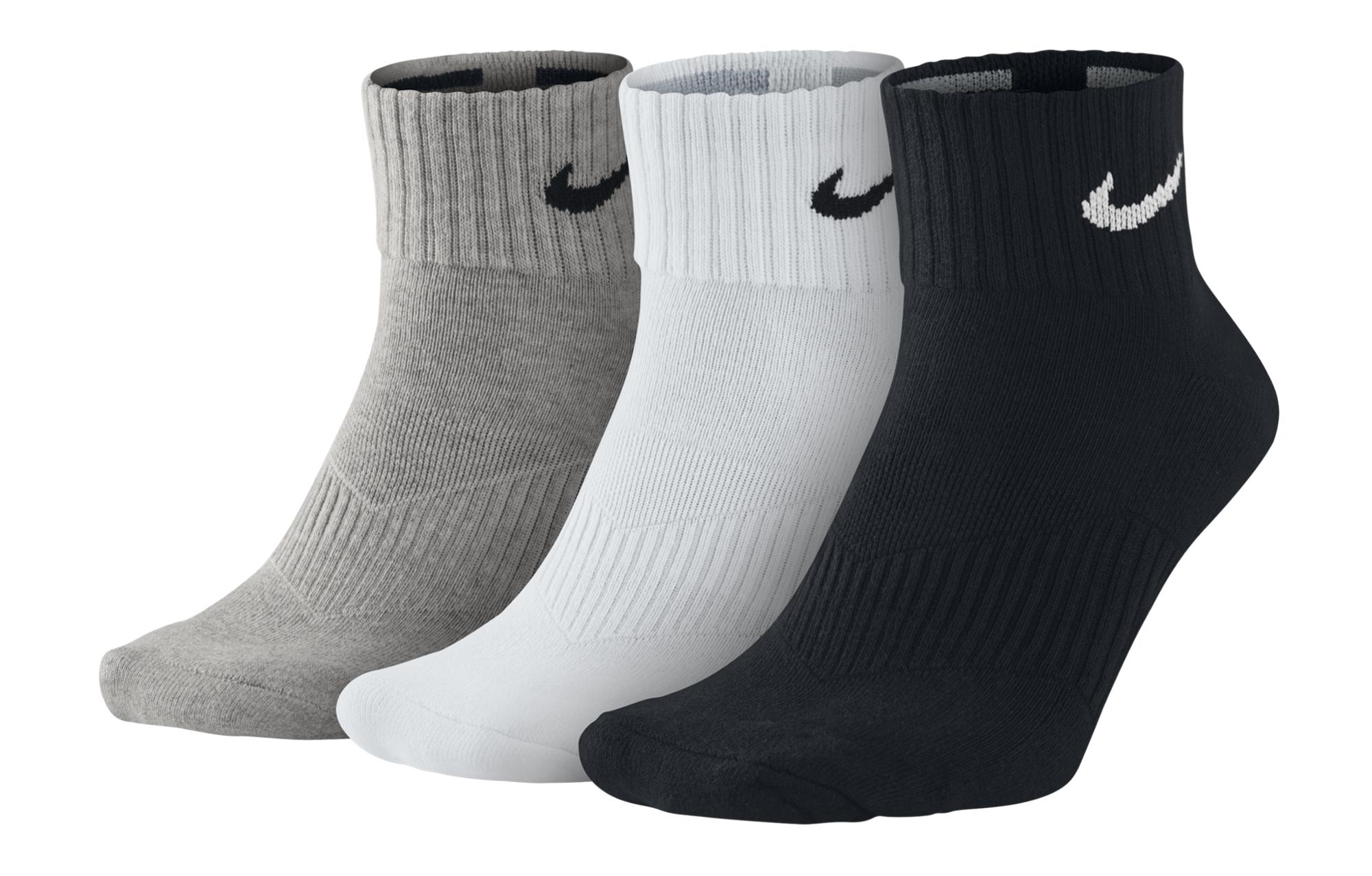 wholesale sales price reduced classic style 3 Paires de chaussettes Nike LIGHTWEIGHT Gris/Blanc/Noir