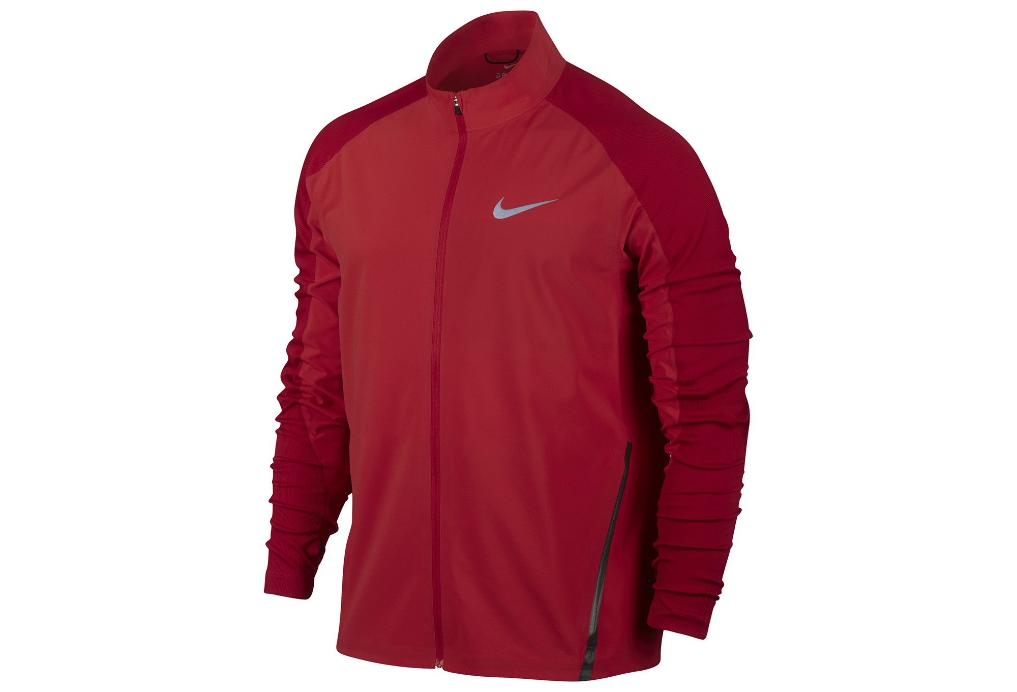 veste nike running rouge. Black Bedroom Furniture Sets. Home Design Ideas