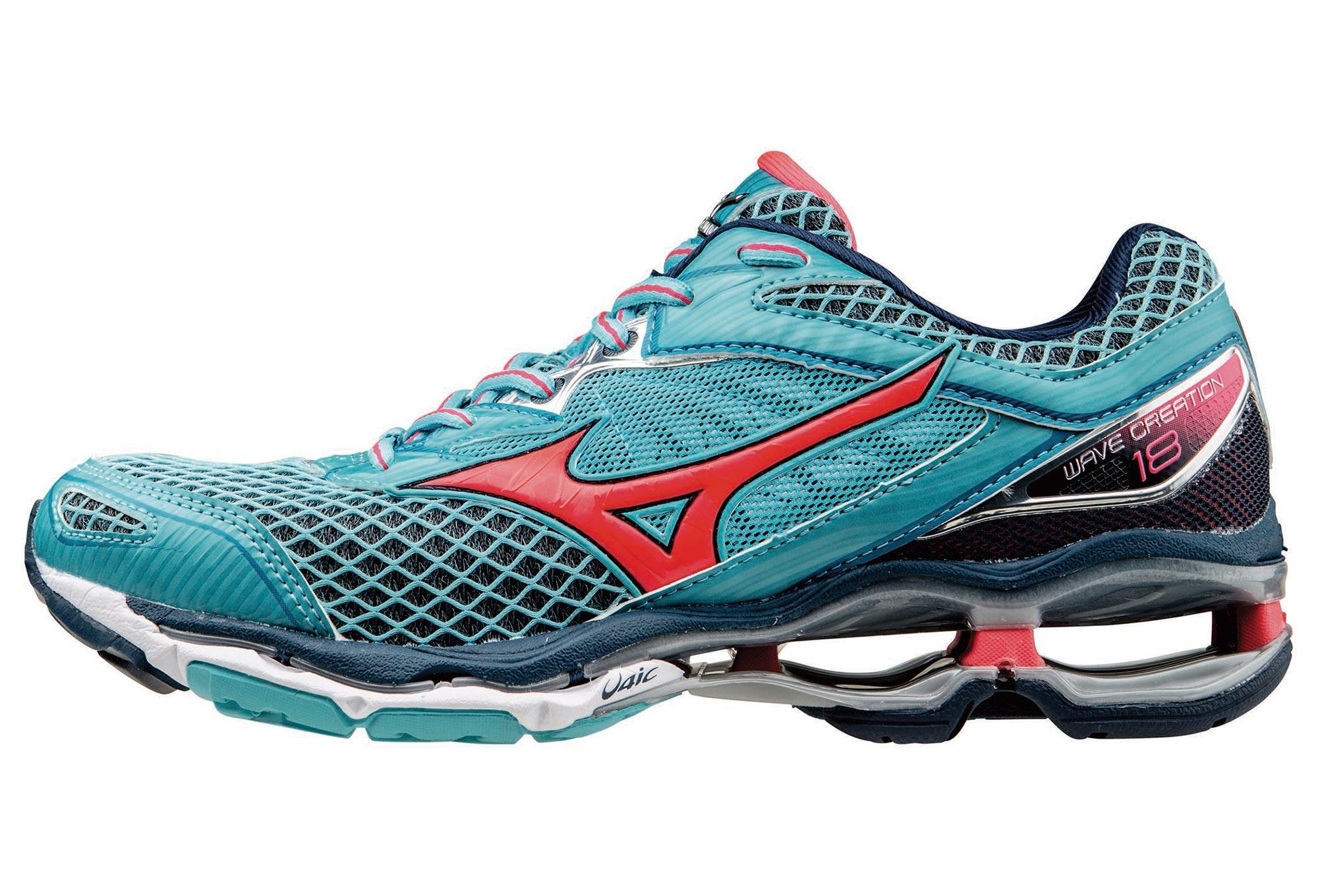 on sale 267a2 f2a35 Chaussures de Running Femme Mizuno WAVE CREATION 18 Bleu