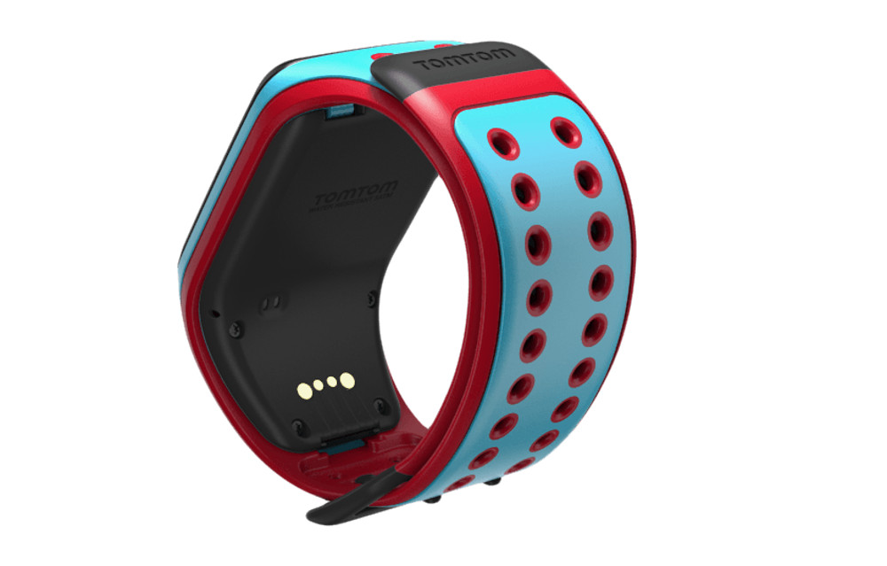 tomtom montre gps runner 2 music bracelet large turquoise rouge ecouteurs bluetooth spark. Black Bedroom Furniture Sets. Home Design Ideas