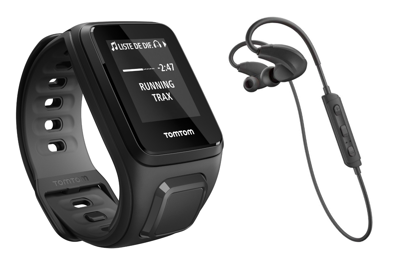 tomtom montre gps runner 2 music bracelet fin noir anthracite ecouteurs bluetooth spark. Black Bedroom Furniture Sets. Home Design Ideas