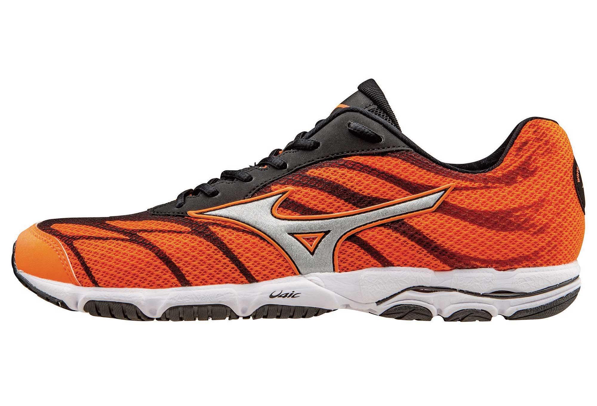 best sneakers 99db3 7a89f MIZUNO Shoes WAVE HITOGAMI 3 Orange Black Men
