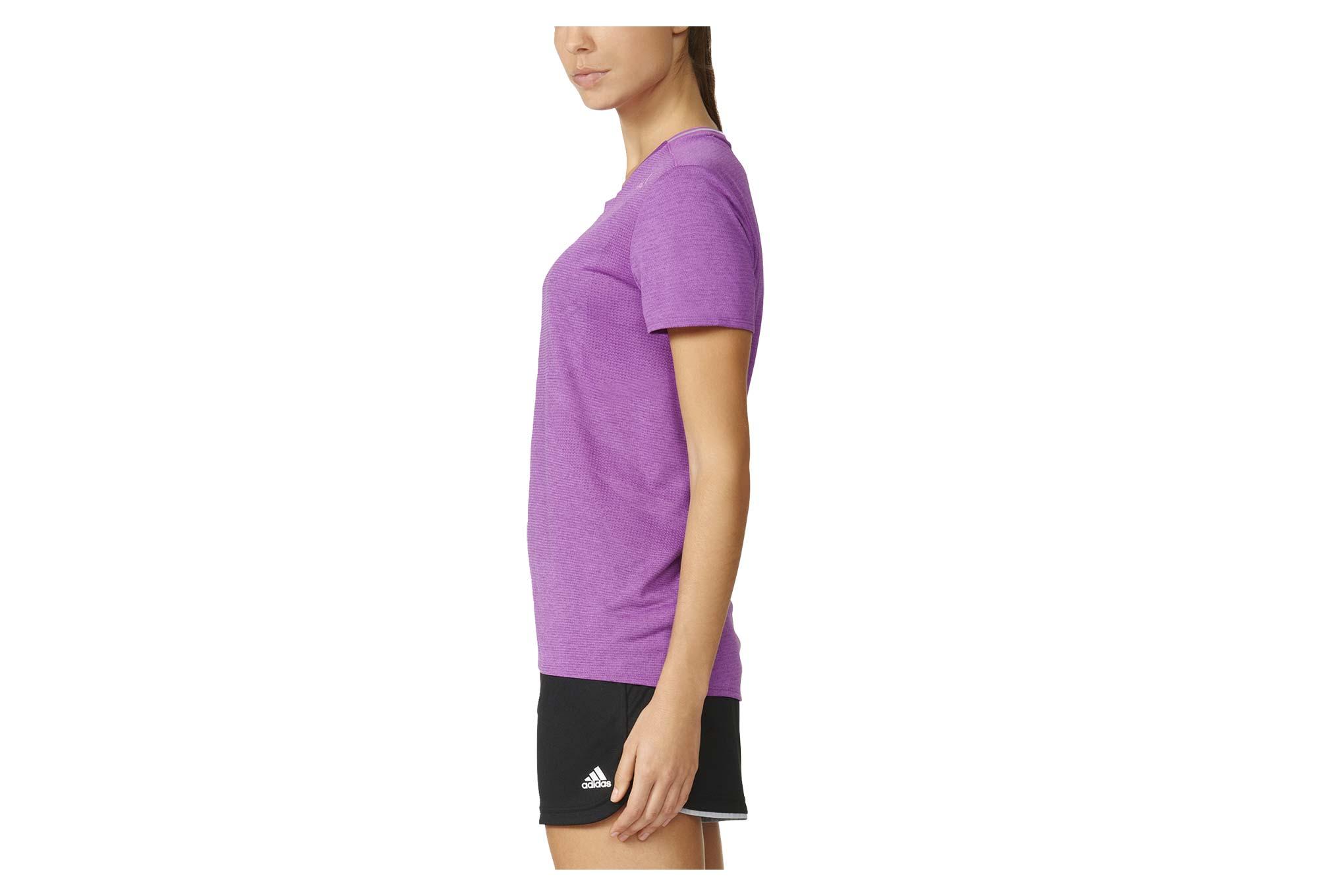Adidas Fran Supernova SS T shirt Running Top Women Pink