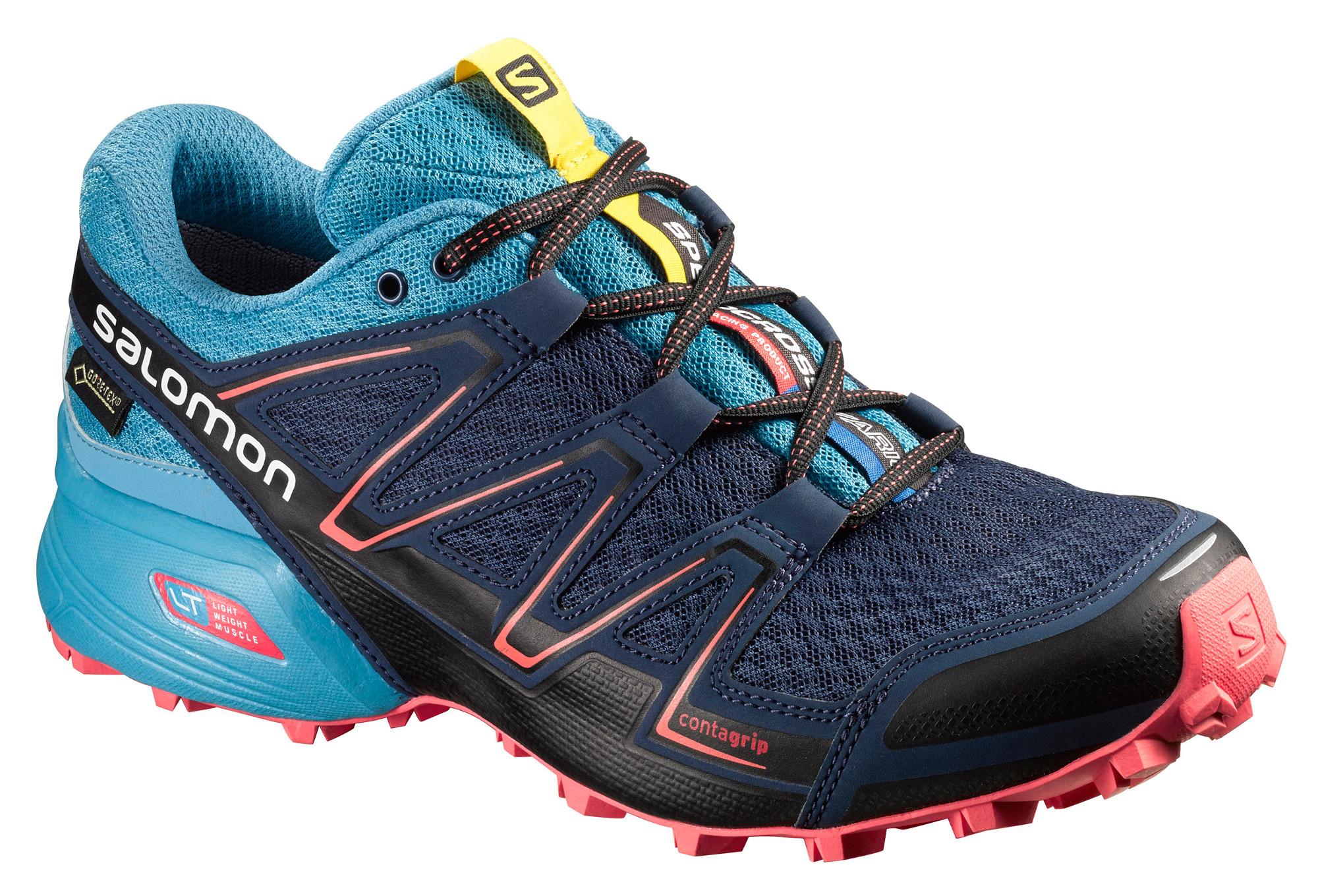 chaussures de trail femme salomon speedcross vario gtx bleu. Black Bedroom Furniture Sets. Home Design Ideas
