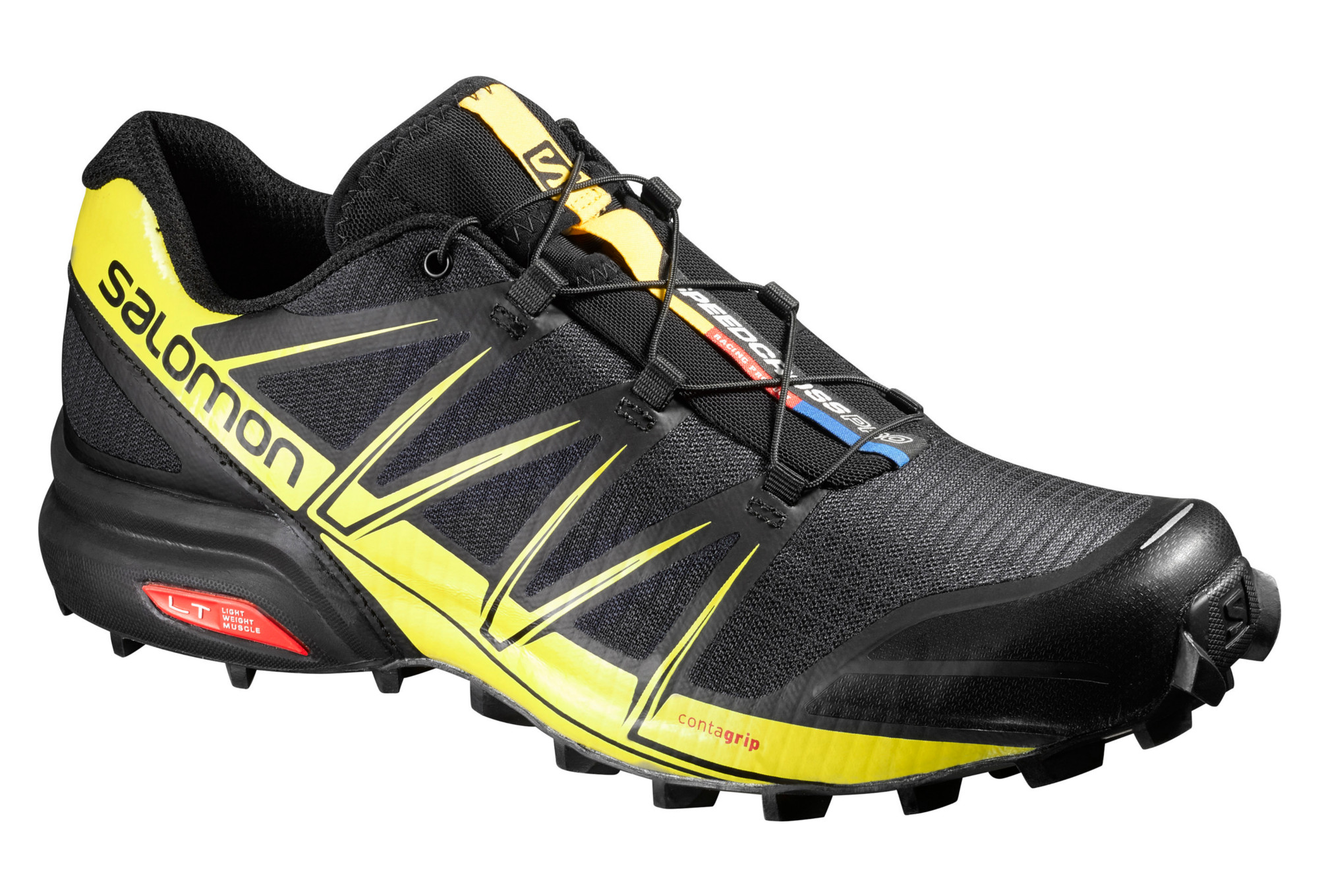 chaussures de trail salomon speedcross pro noir jaune. Black Bedroom Furniture Sets. Home Design Ideas
