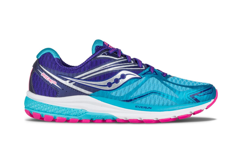 Zapatillas Running: Azul Rosa Saucony Ride 9 Mujer