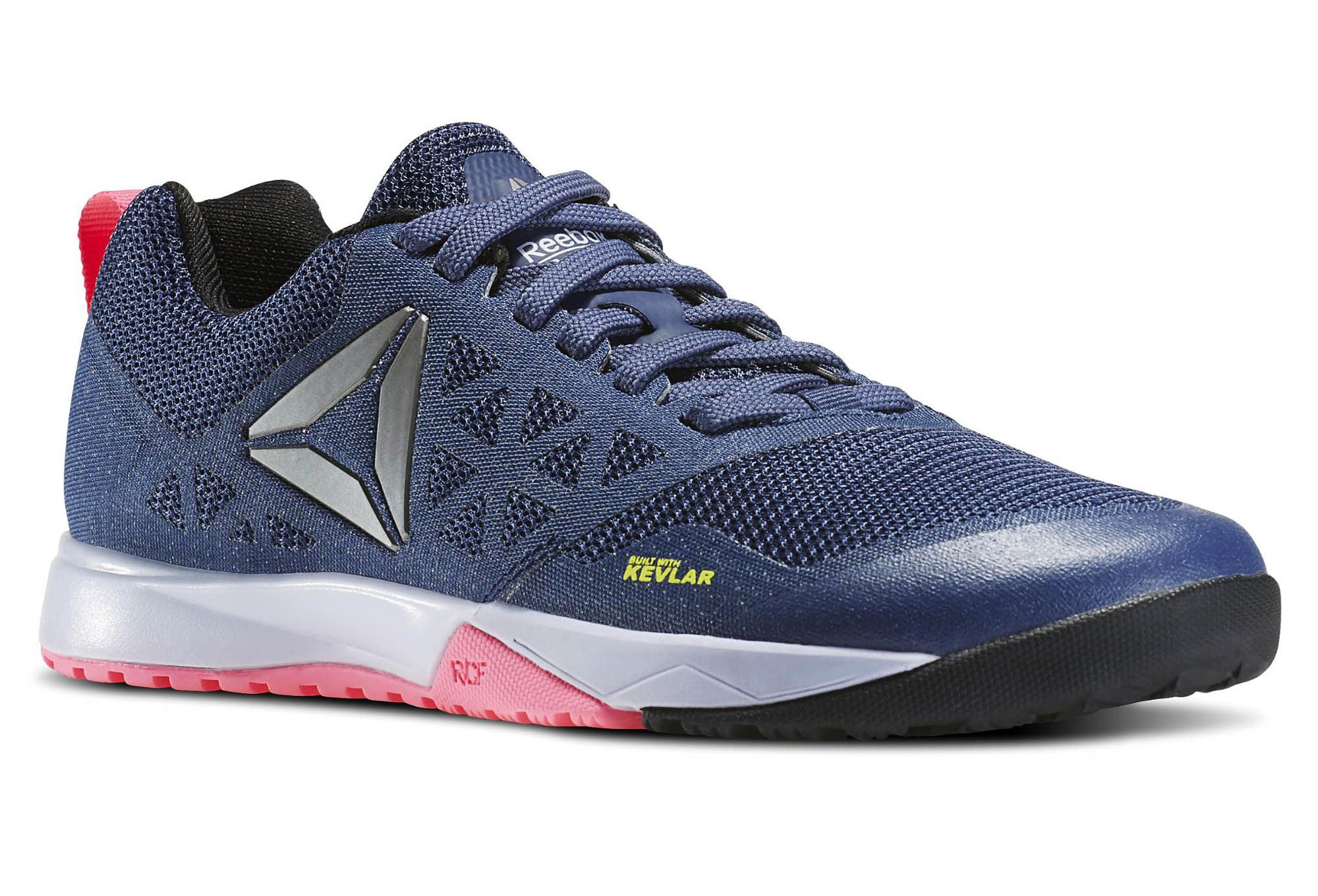 chaussures de cross training femme reebok crossfit nano 6 0 bleu. Black Bedroom Furniture Sets. Home Design Ideas