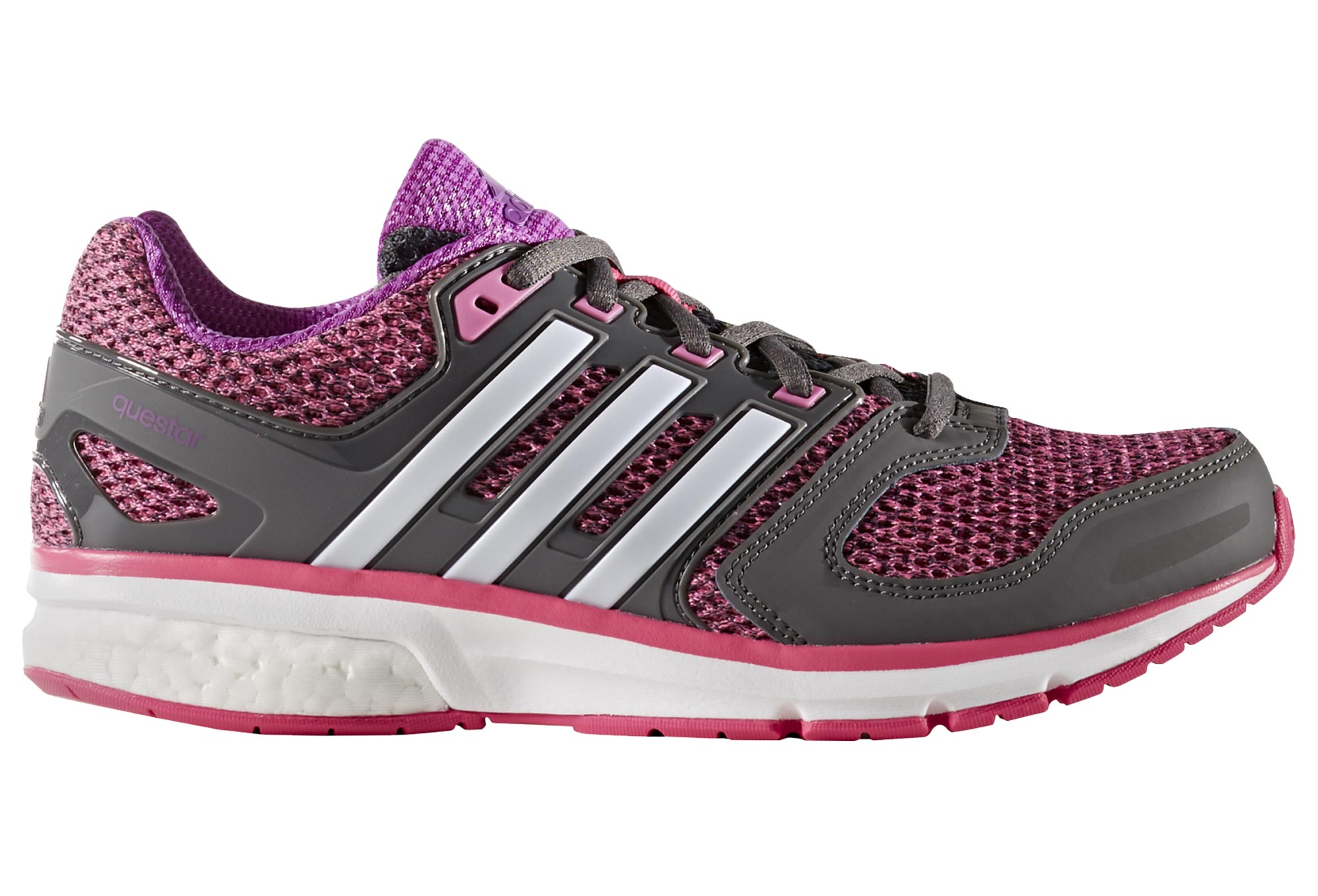 adidas questar boost pink grey women. Black Bedroom Furniture Sets. Home Design Ideas