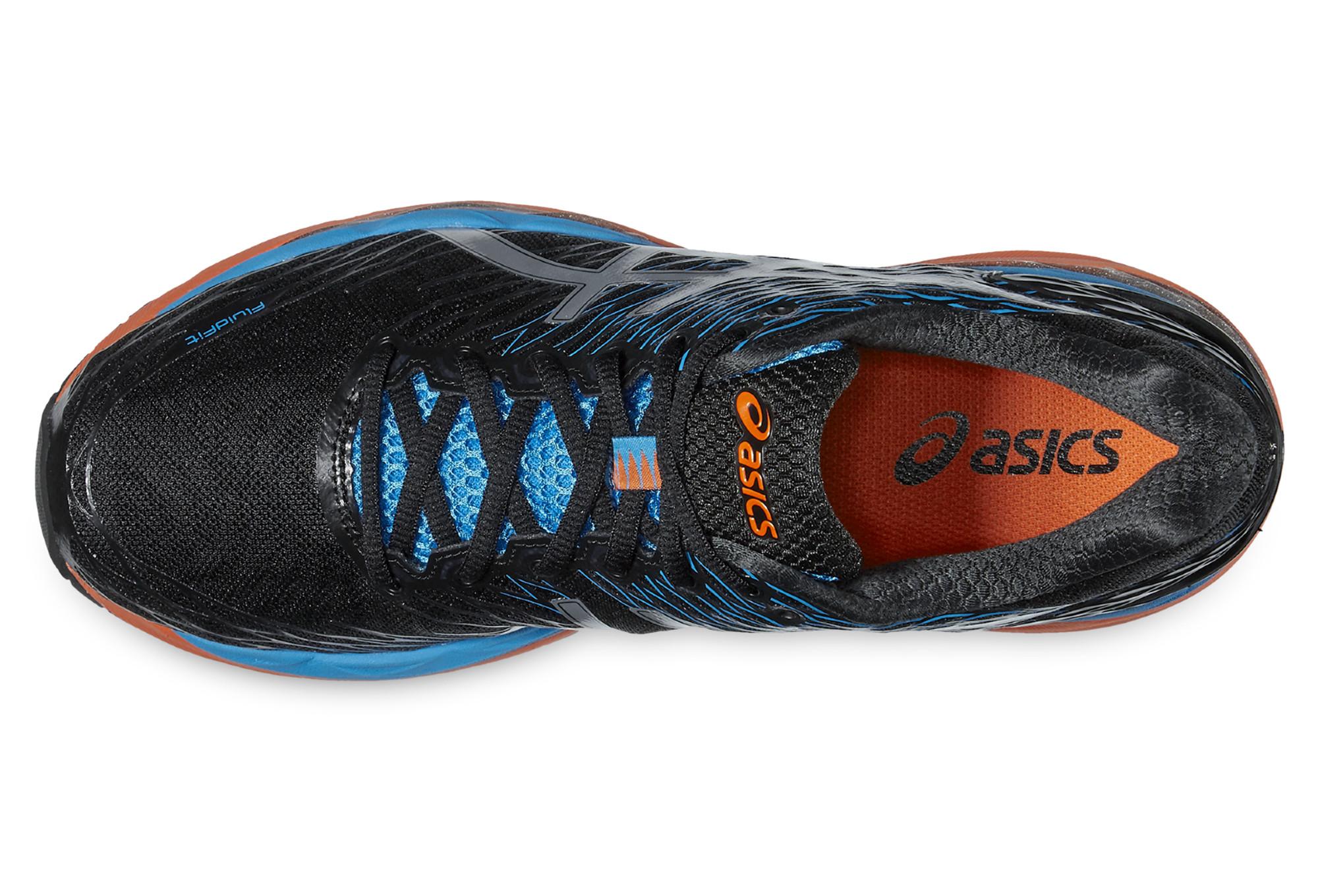 chaussures de running asics nimbus 18 noir bleu orange. Black Bedroom Furniture Sets. Home Design Ideas
