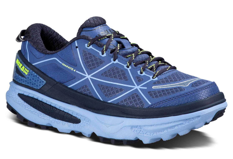 chaussures de trail femme hoka one one mafate 4 bleu. Black Bedroom Furniture Sets. Home Design Ideas